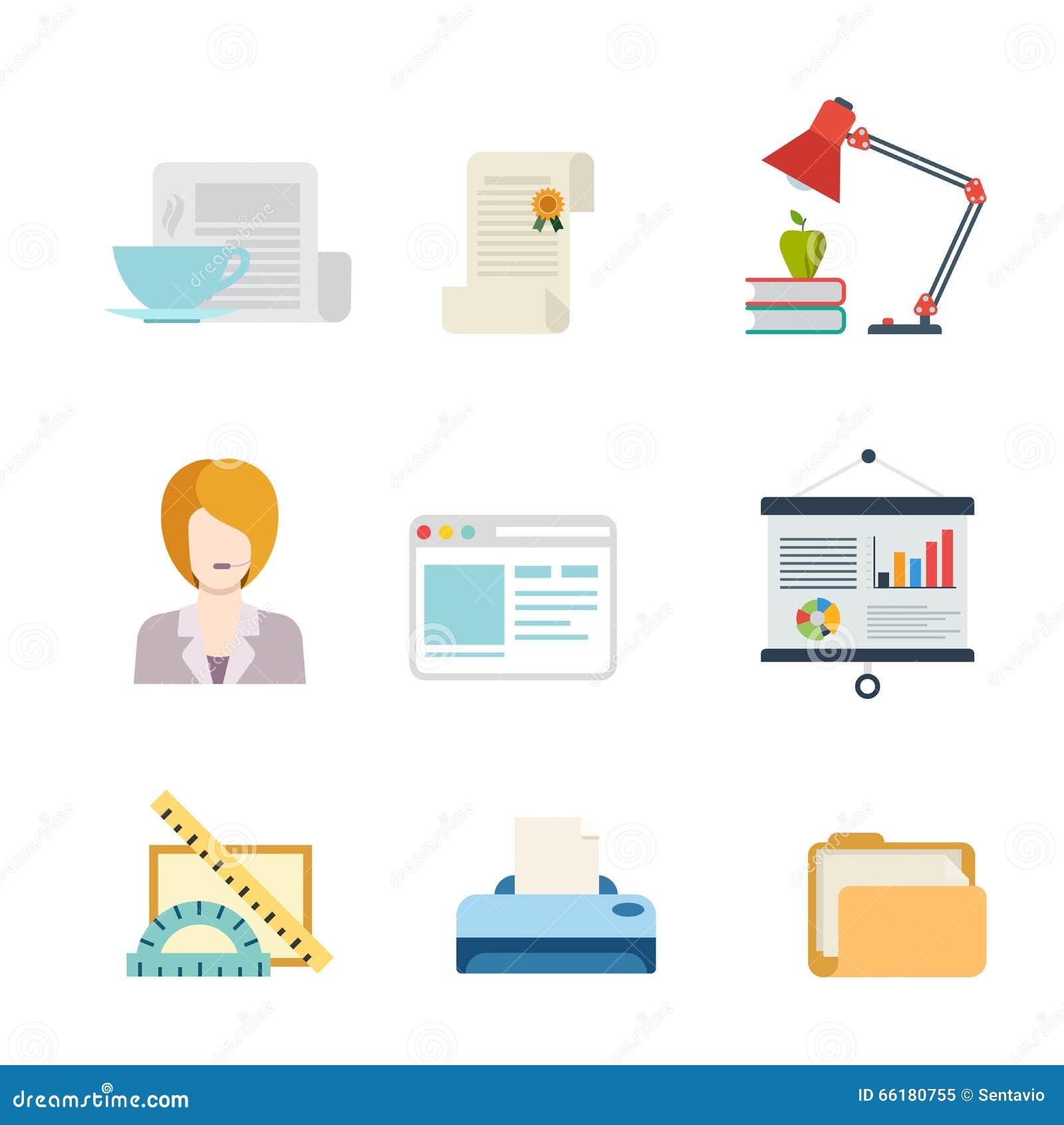 Icono plano del app del web del interfaz del negocio del for App para planos