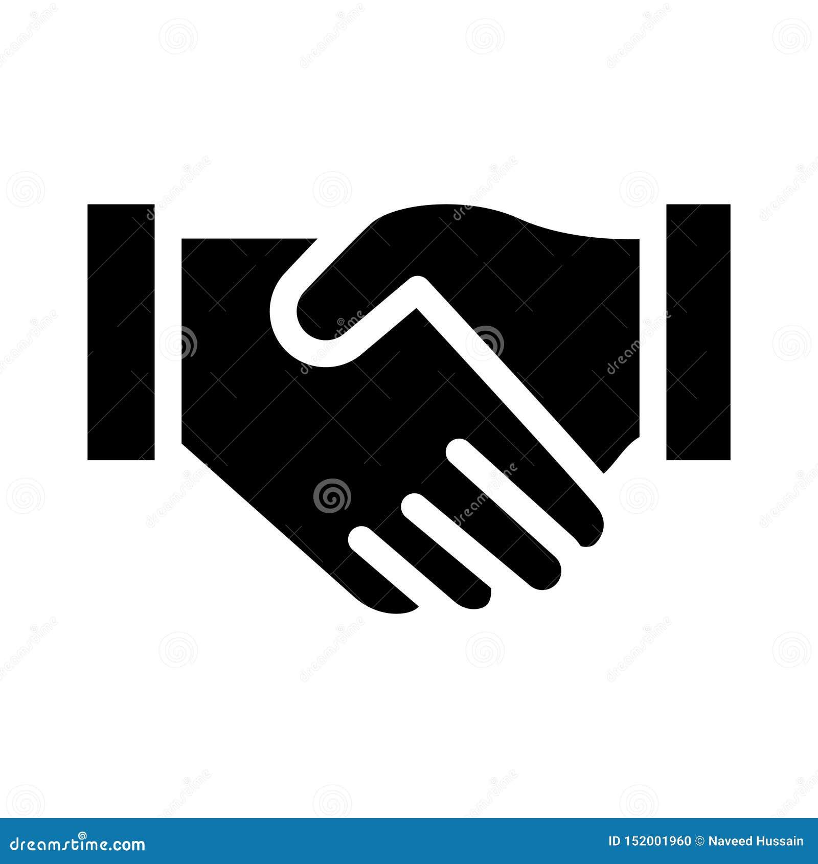 Icono plano del glyph del compromiso