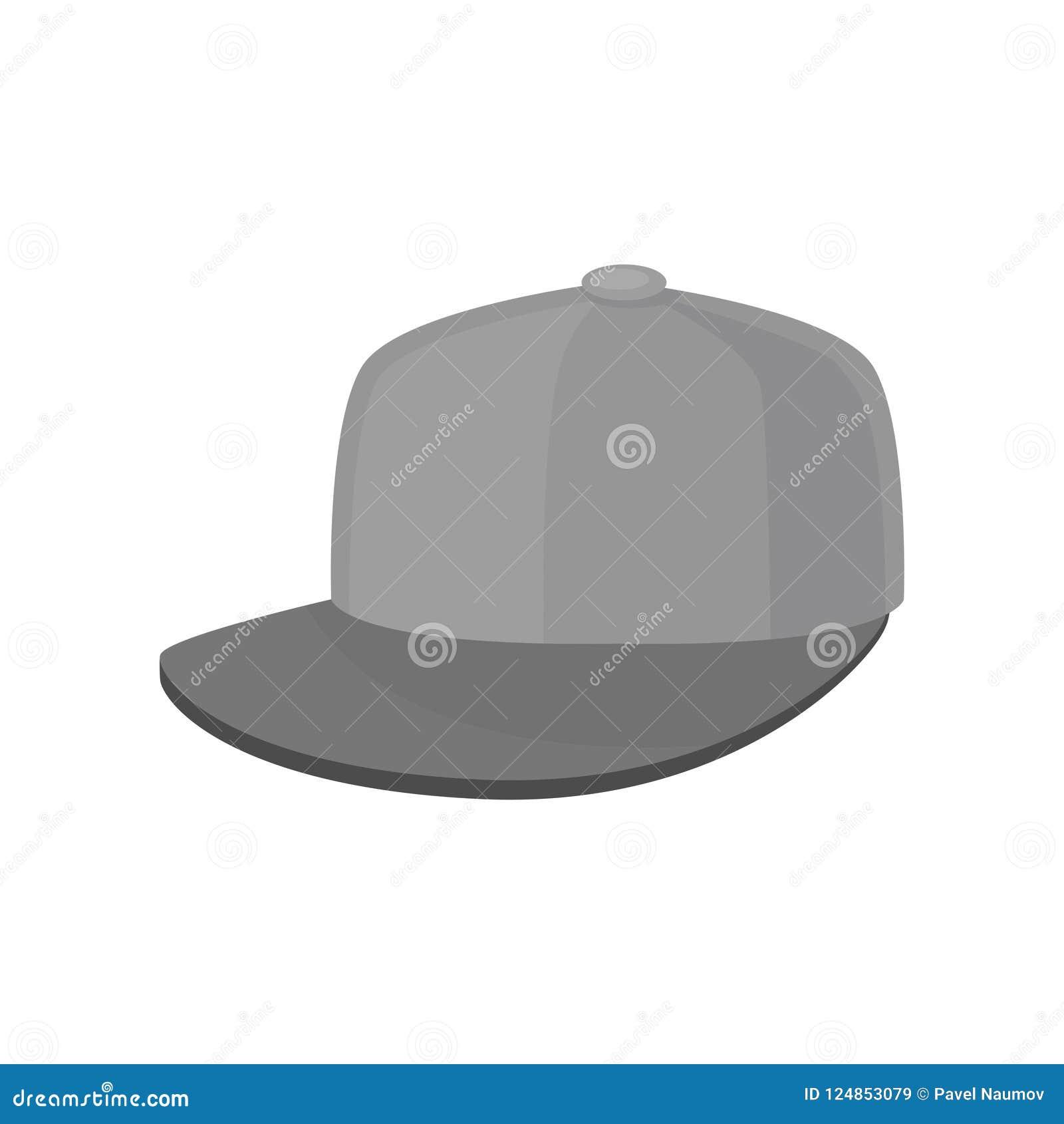 aa4f7c375c957 Icono de la gorra de béisbol gris Sombrero con la visera dura Headwear  unisex Accesorio de moda Elemento gráfico para hacer publicidad del cartel  o de la ...