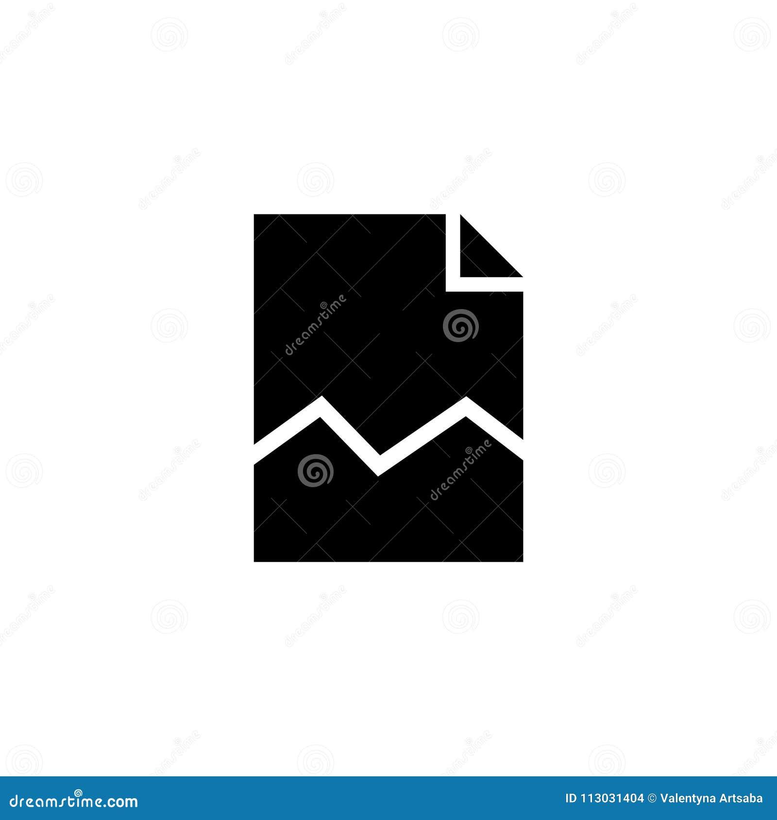 Icono plano del vector de la hoja de Torned