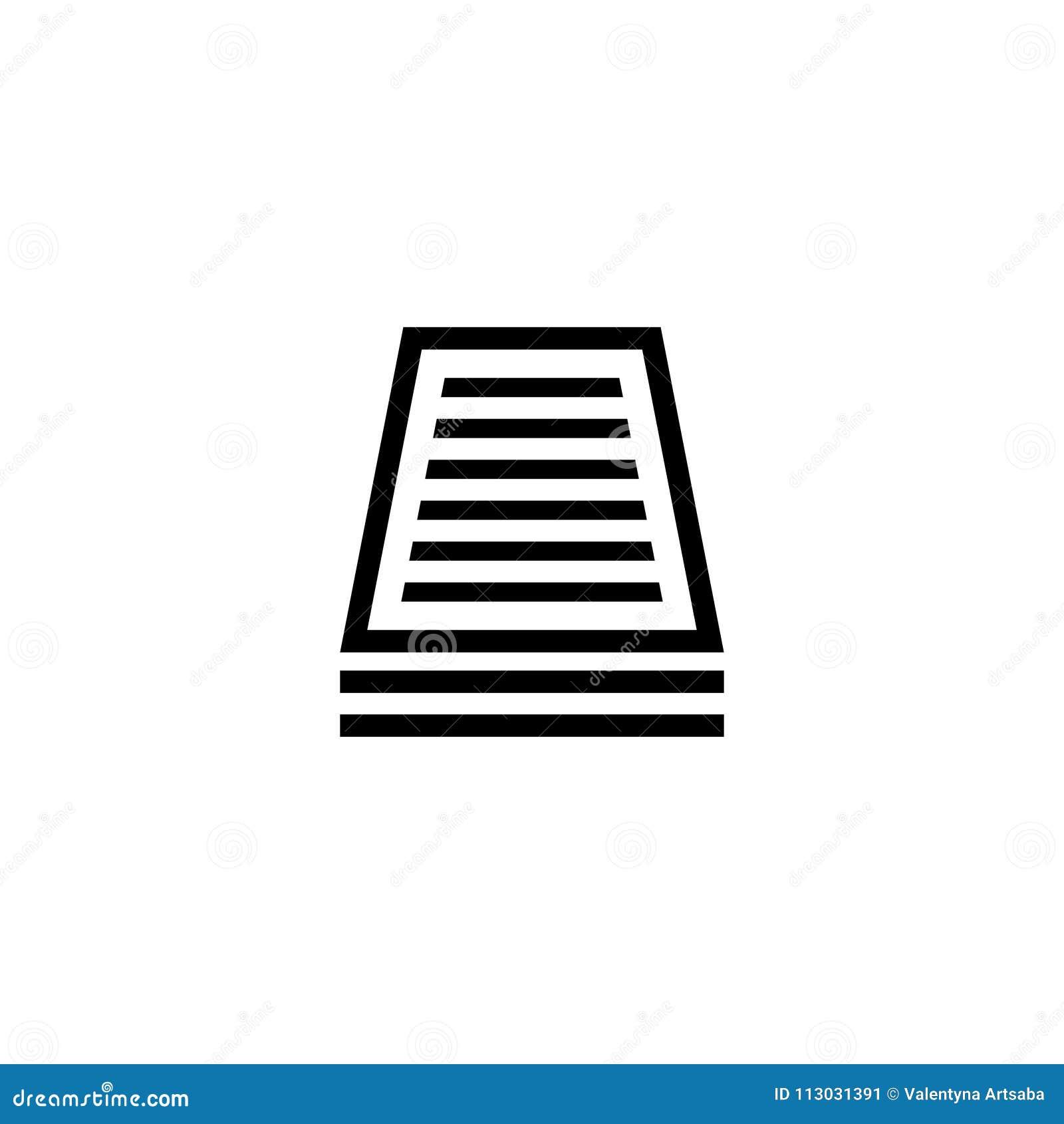 Icono plano del vector del documento