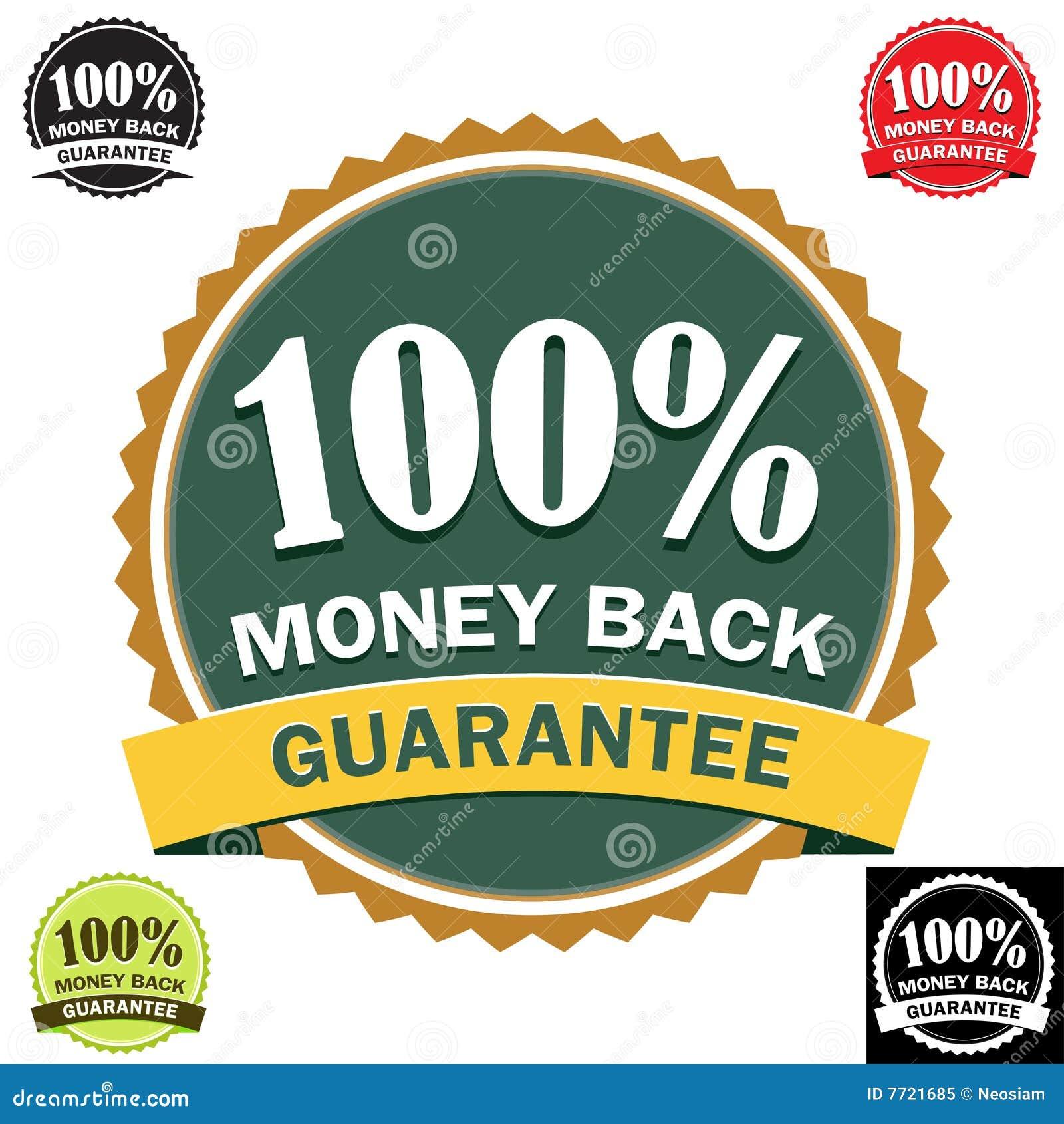 Icono posterior 100  de la garantía del dinero