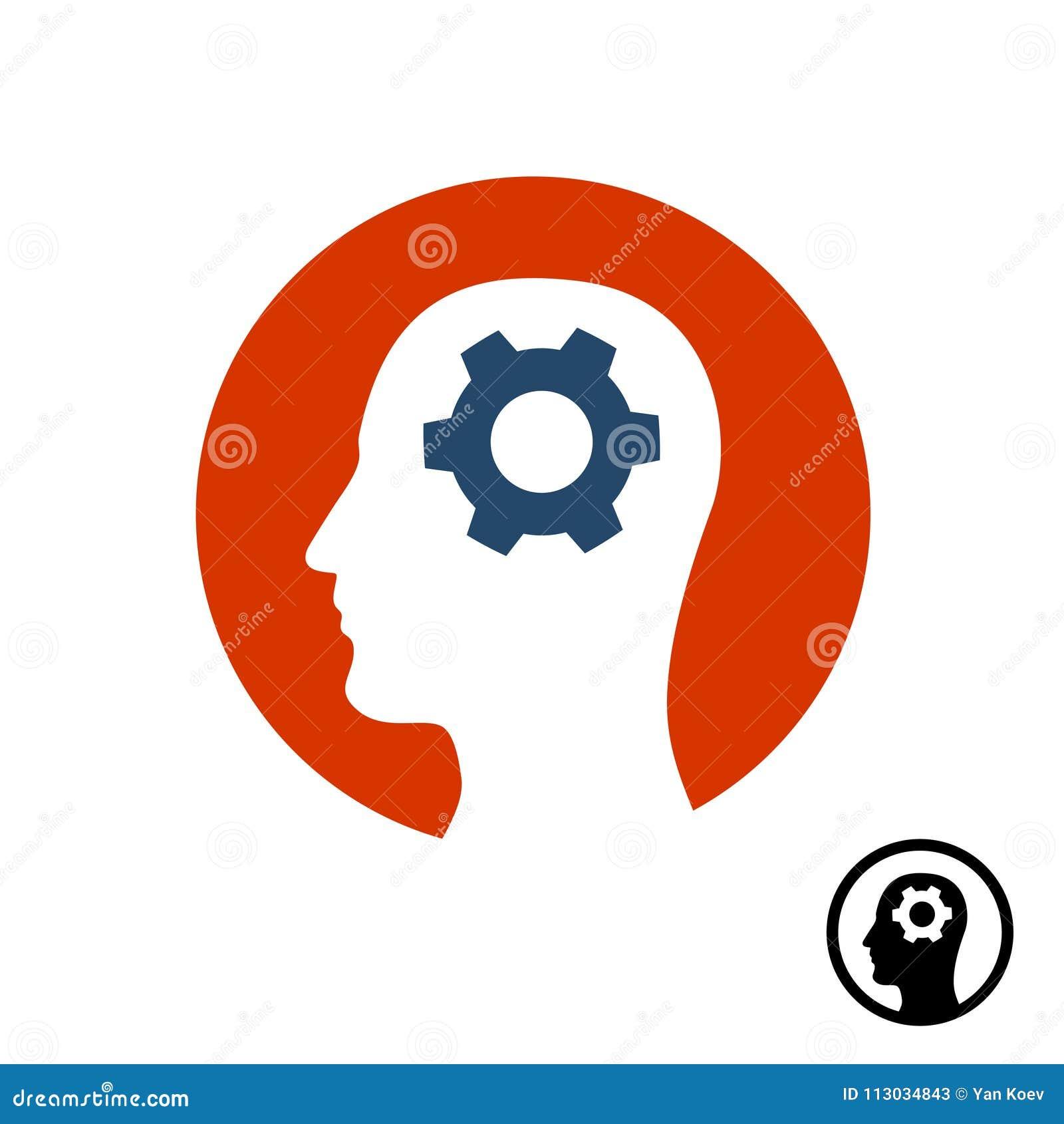 Icono principal del engranaje Símbolo de la actividad cerebral