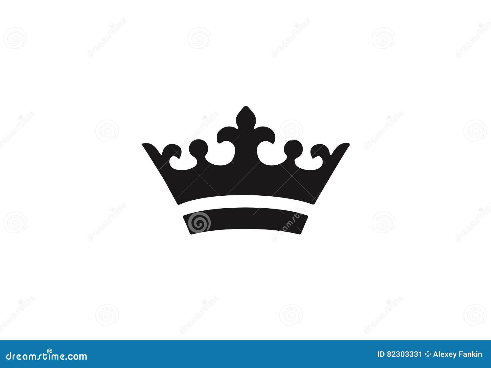 Icono real negro de la corona