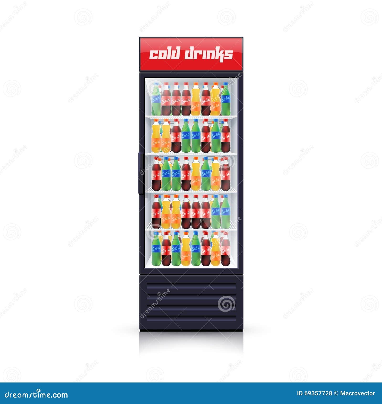 Icono realista del ejemplo del dispensador del refrigerador de la cola