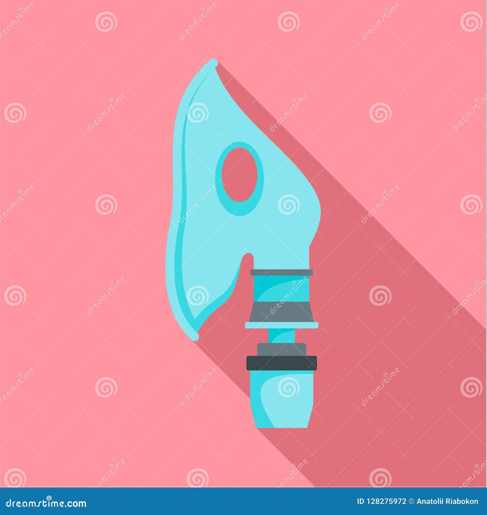 Icono respiratorio de la máscara, estilo plano