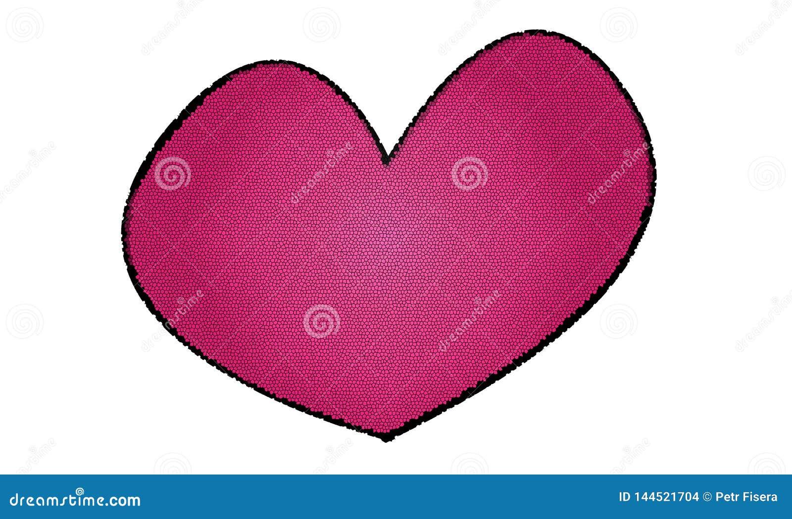Icono rosado del corazón para la gente en amor