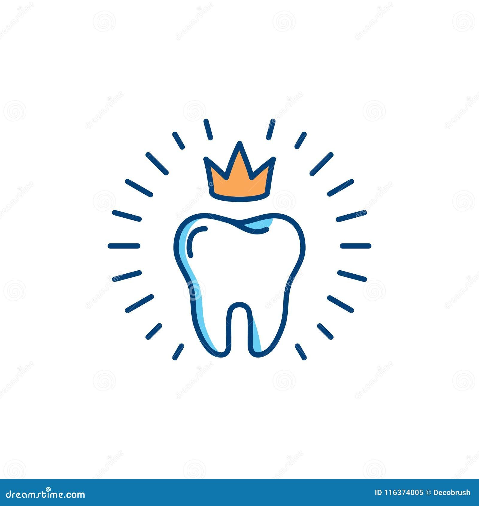 Icono sano de los dientes Concepto del logotipo del cuidado dental, higiene oral, plantilla dental del logotipo de la clínica El