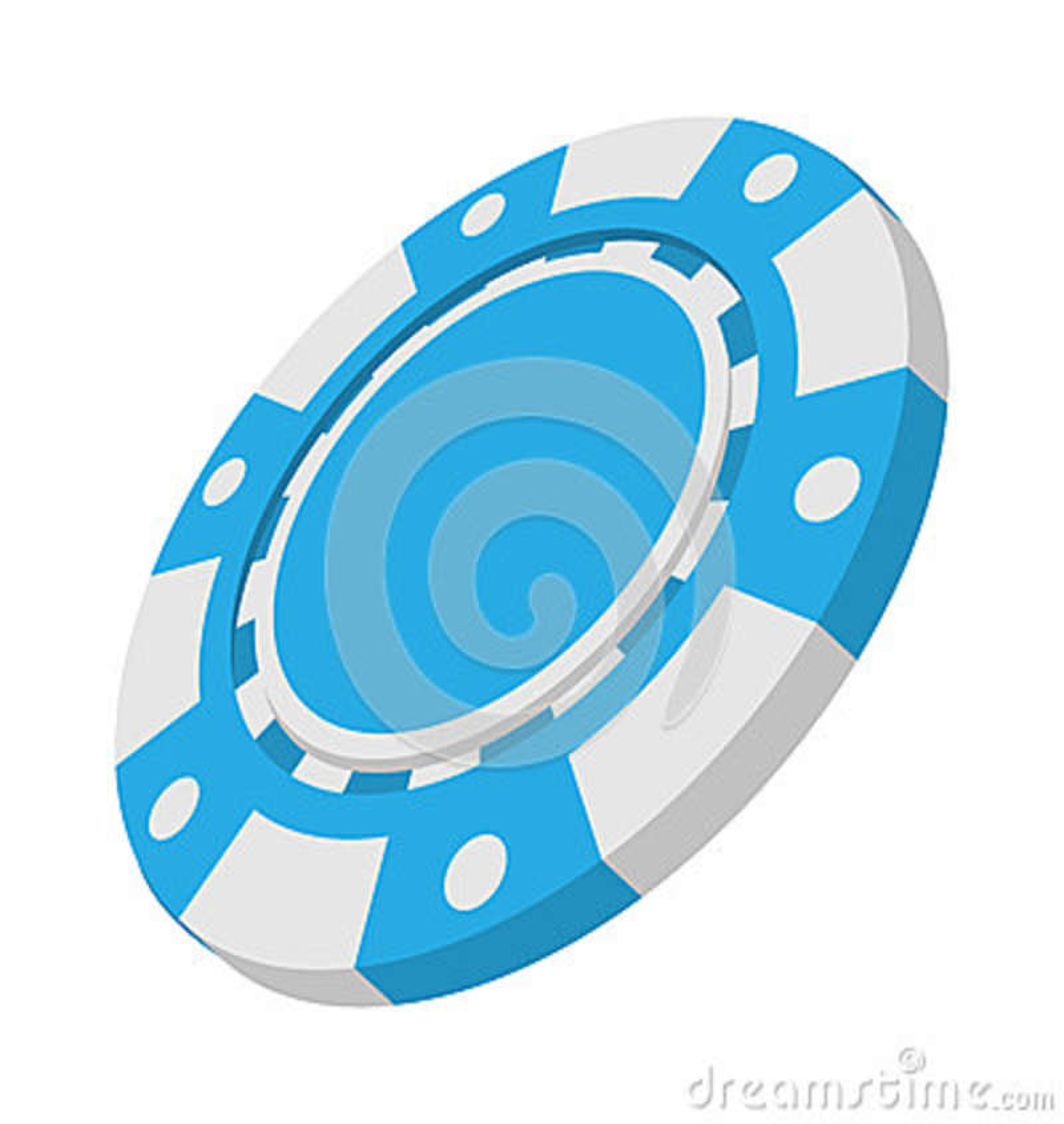 Icono simbólico de la historieta del casino azul