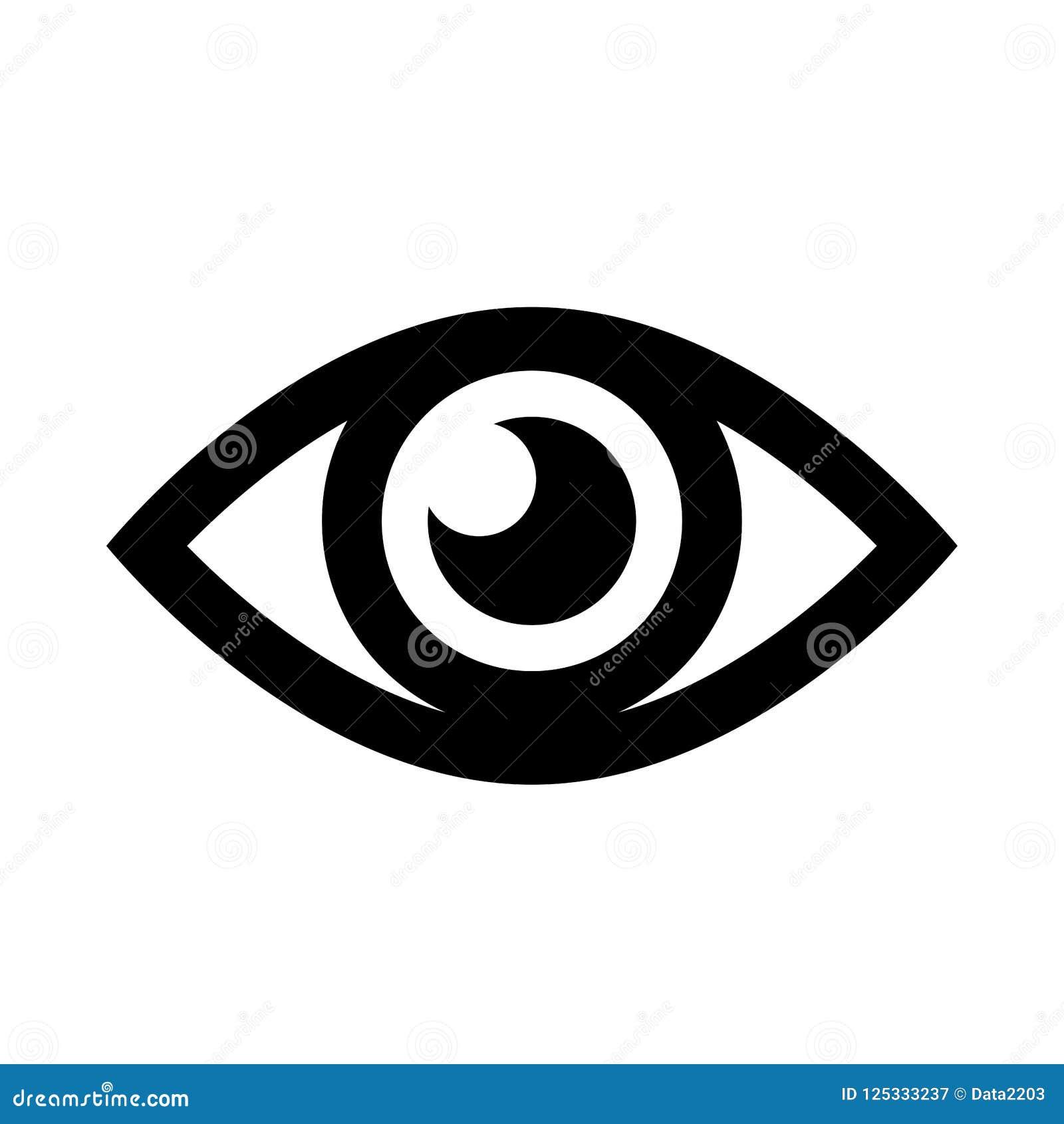 Icono simple del ojo