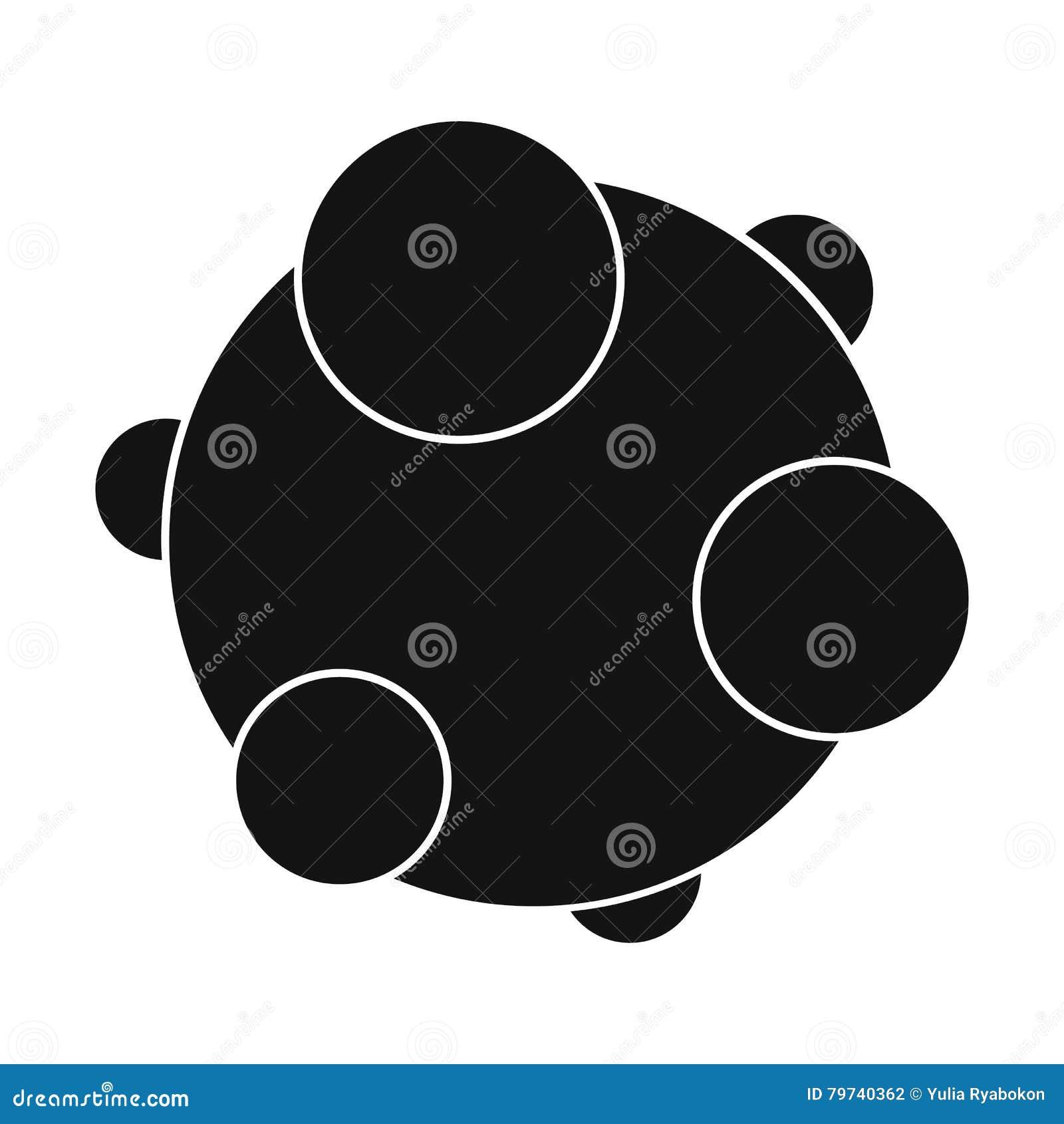 Icono simple negro del virus