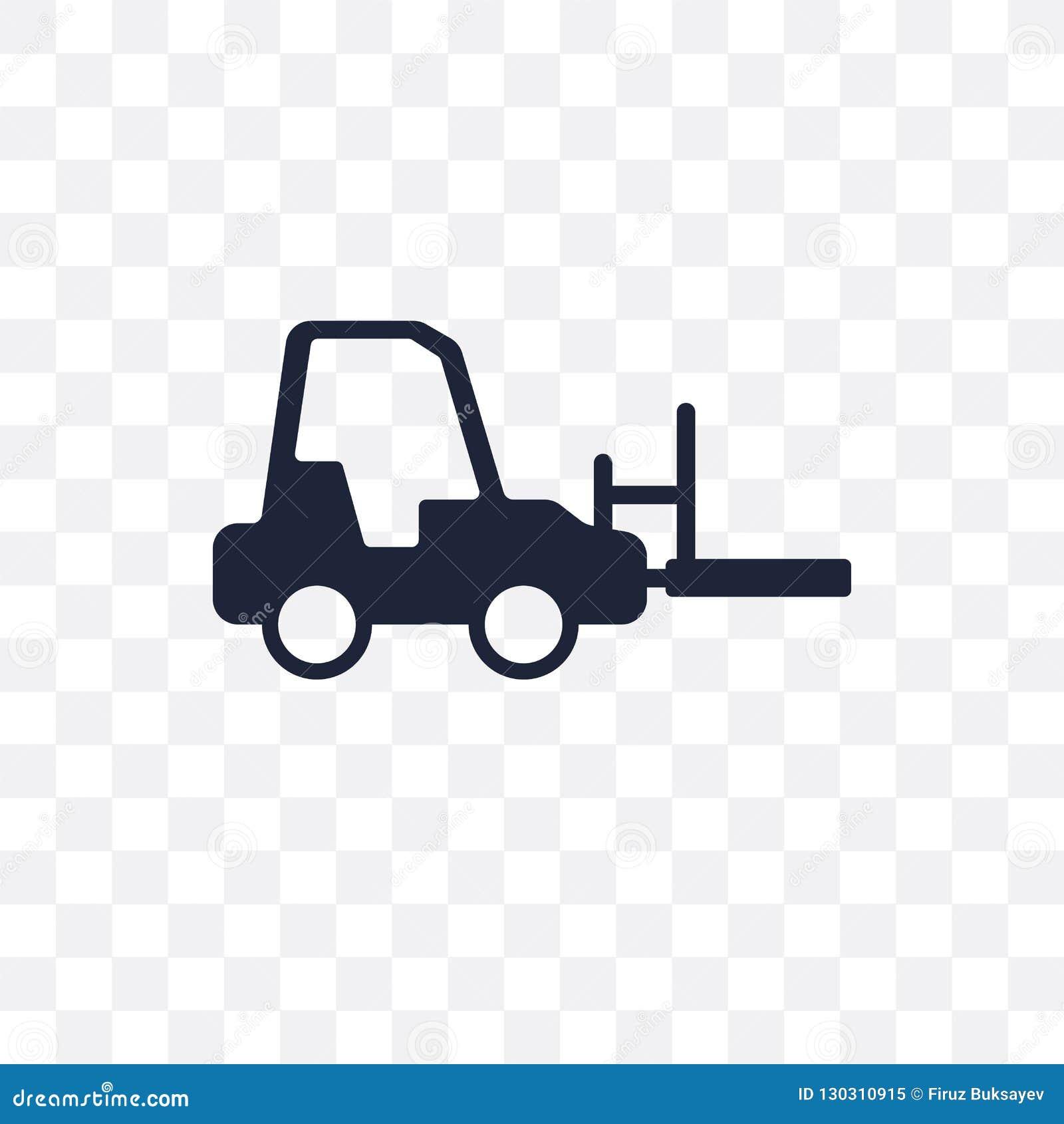 Icono Transparente De La Carretilla Elevadora Diseño Del Símbolo De