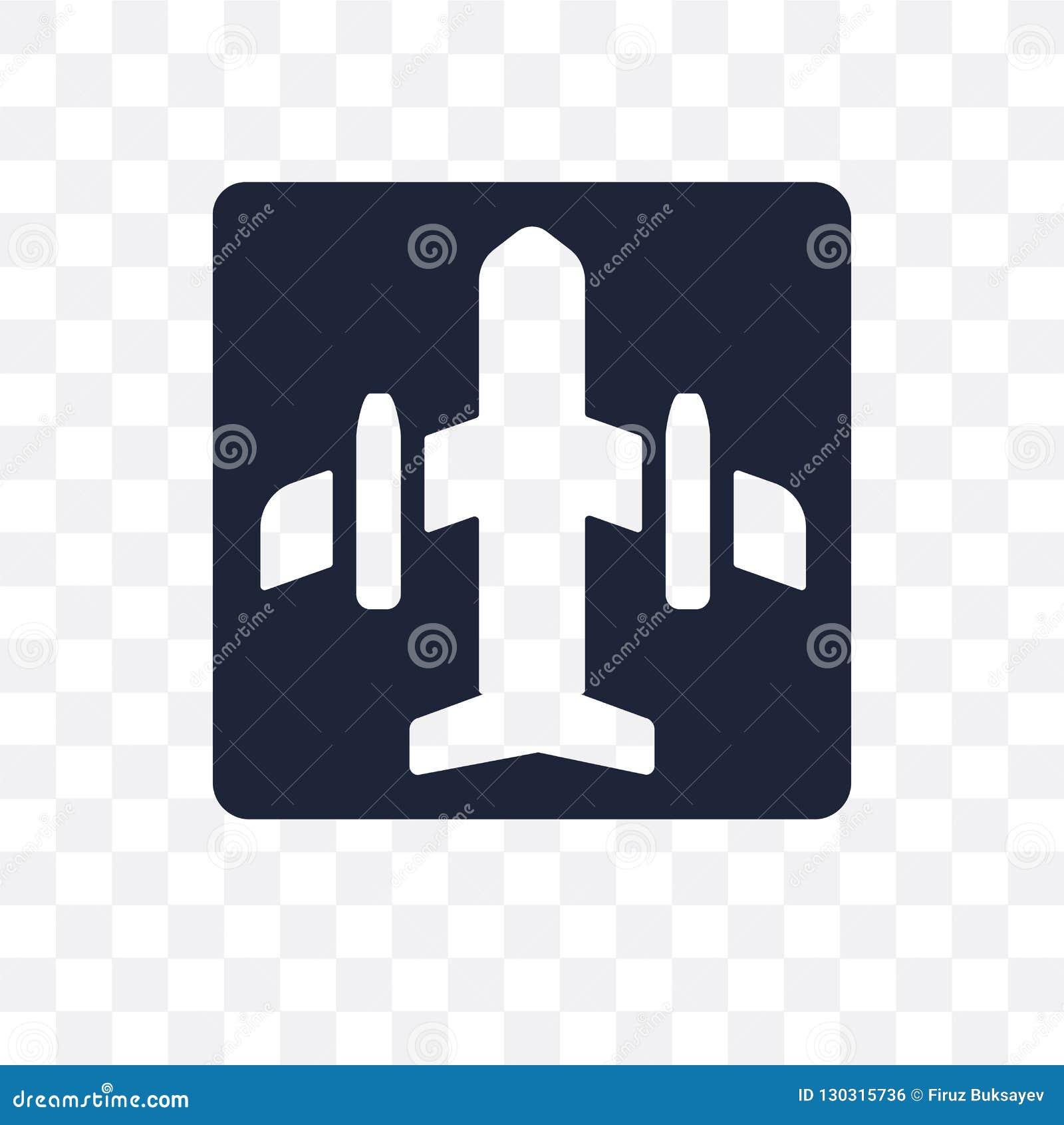 Icono transparente de la muestra del aeropuerto Diseño del símbolo de la muestra del aeropuerto de T