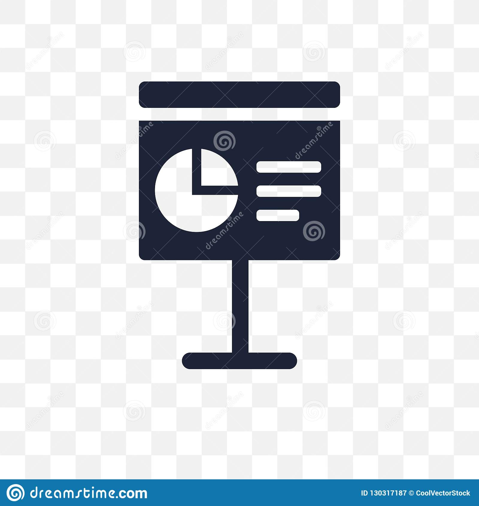 Icono transparente de la presentación Diseño del símbolo de la presentación de B