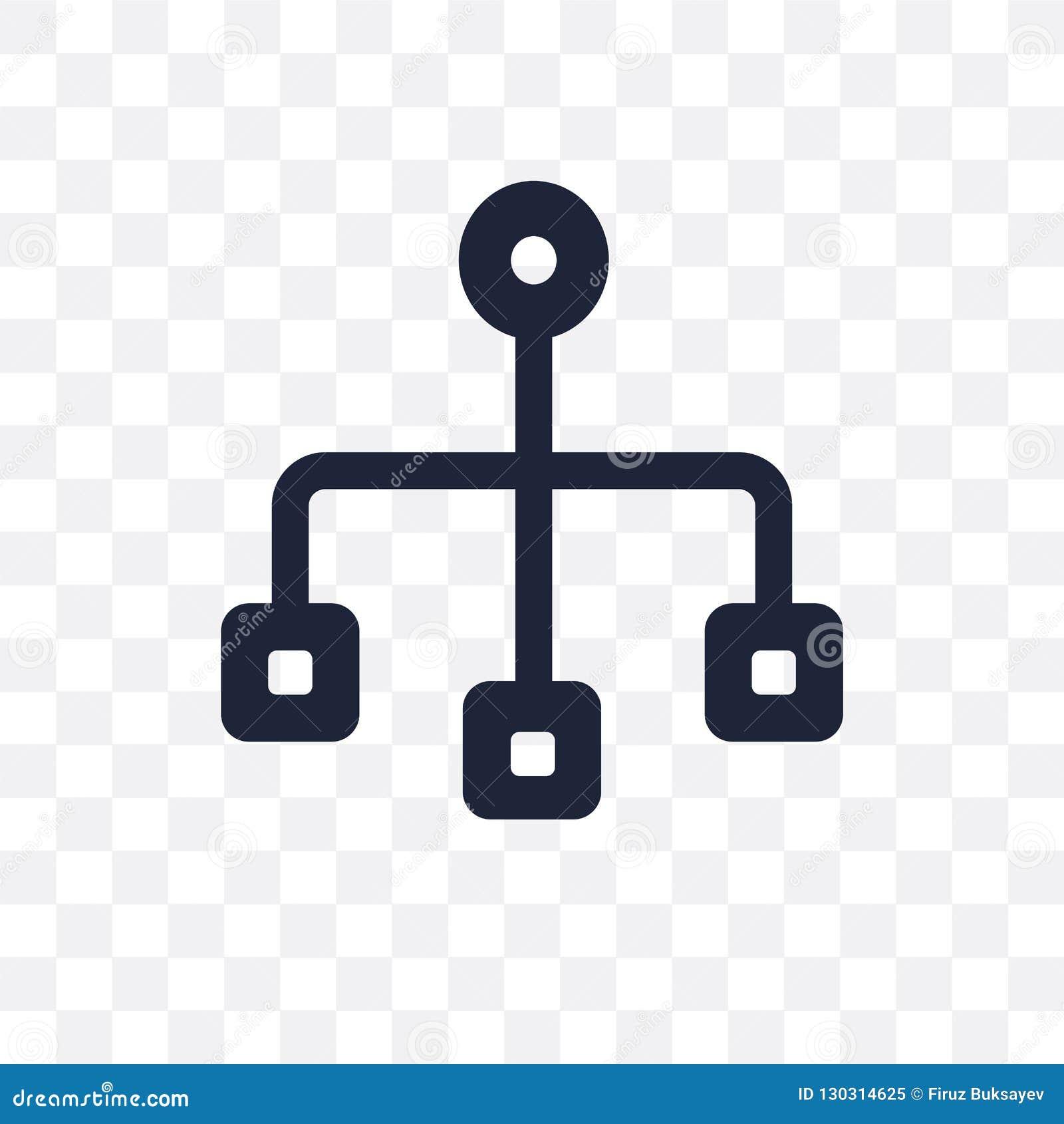 Icono transparente de Sitemap Diseño del símbolo de Sitemap de SEO recoger