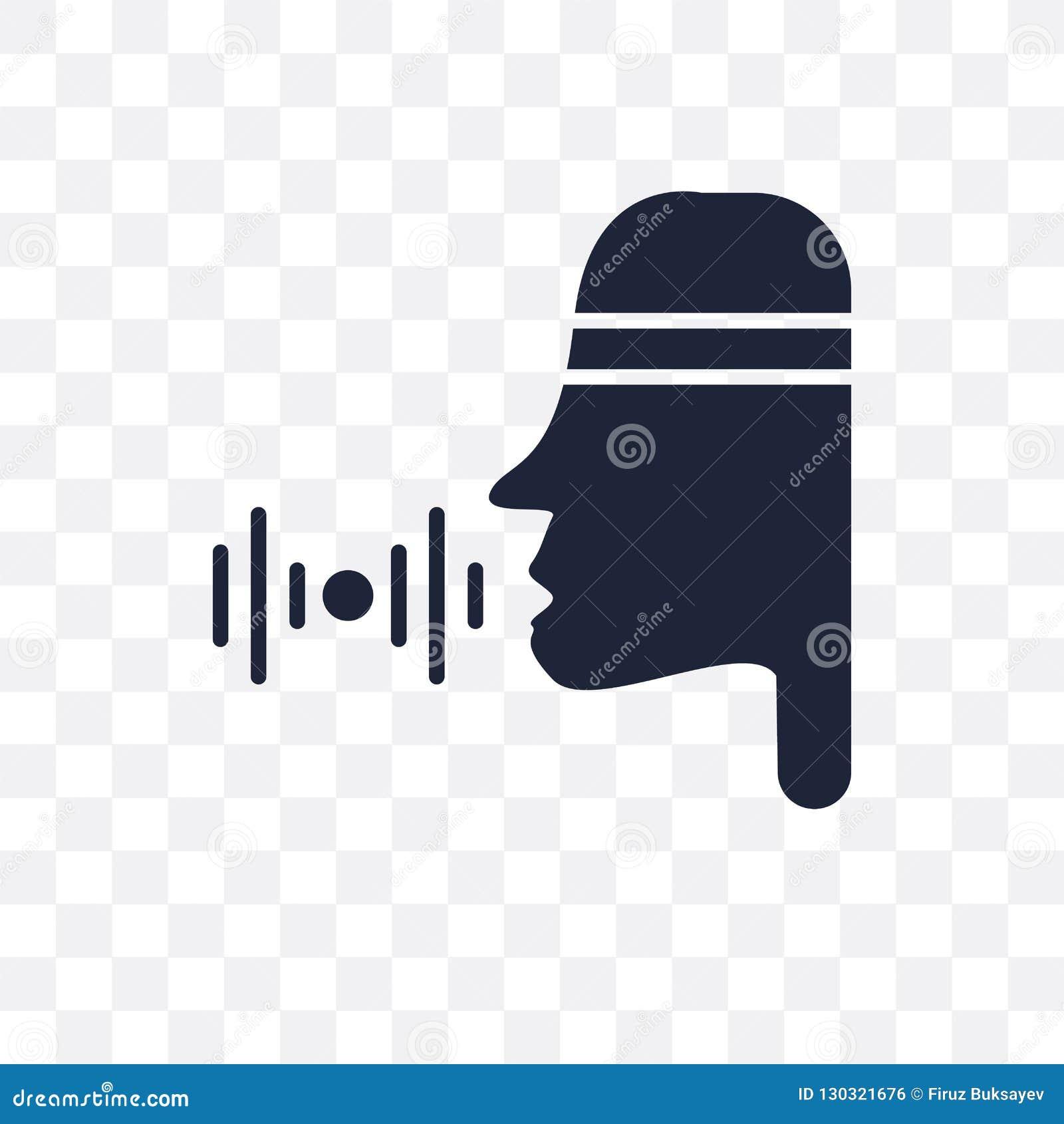 Icono transparente del control de la voz Diseño del símbolo de control de la voz de