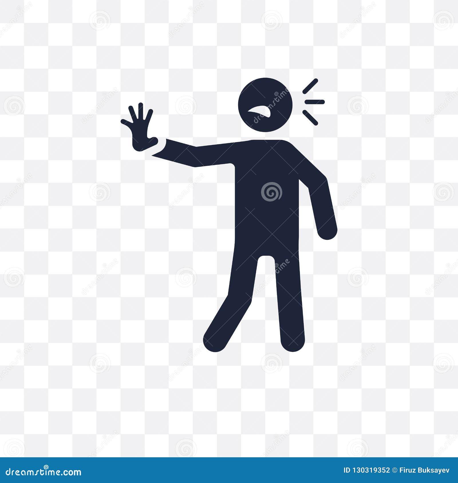 Icono transparente humano bombeado diseño humano bombeado del símbolo de F