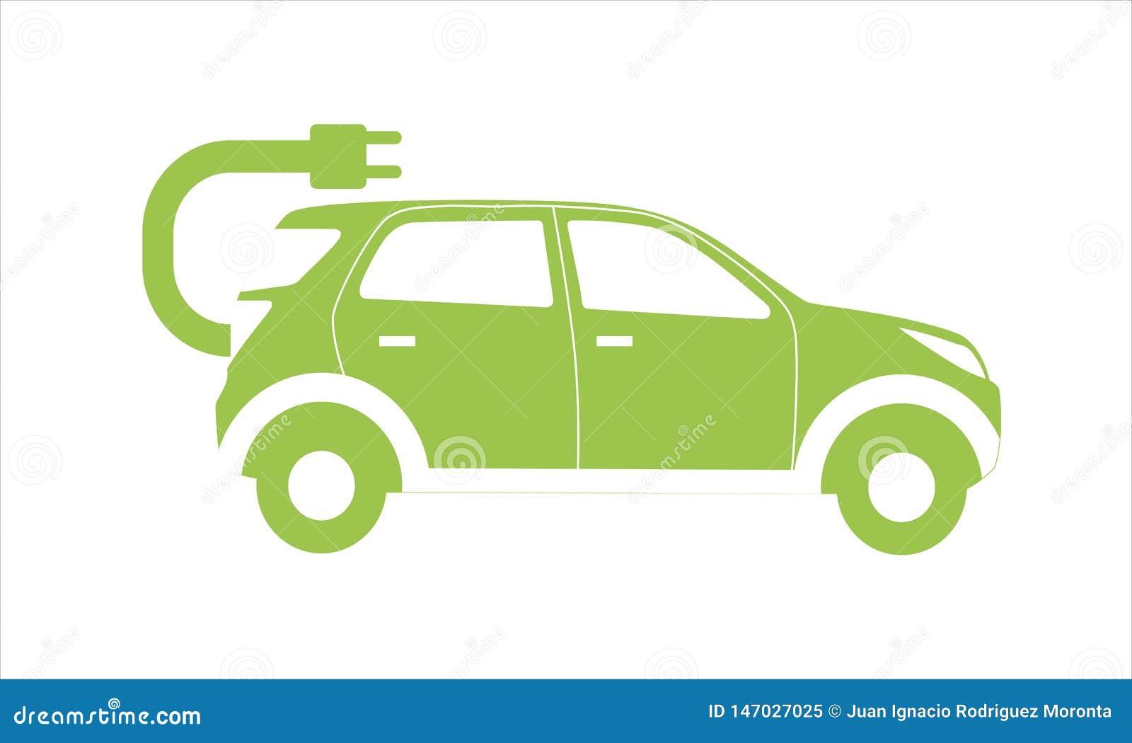 Icono vectorial del coche eléctrico