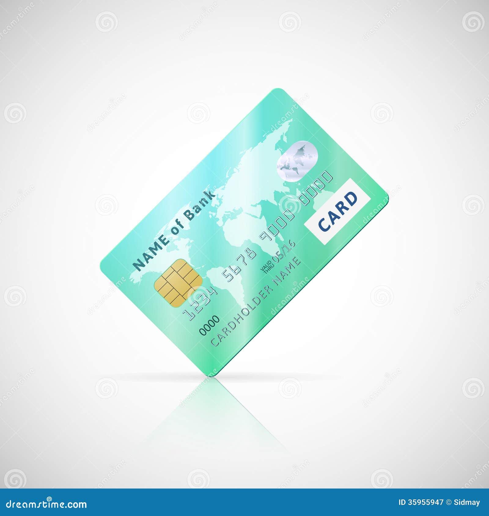 Icono verde brillante detallado de la tarjeta de crédito