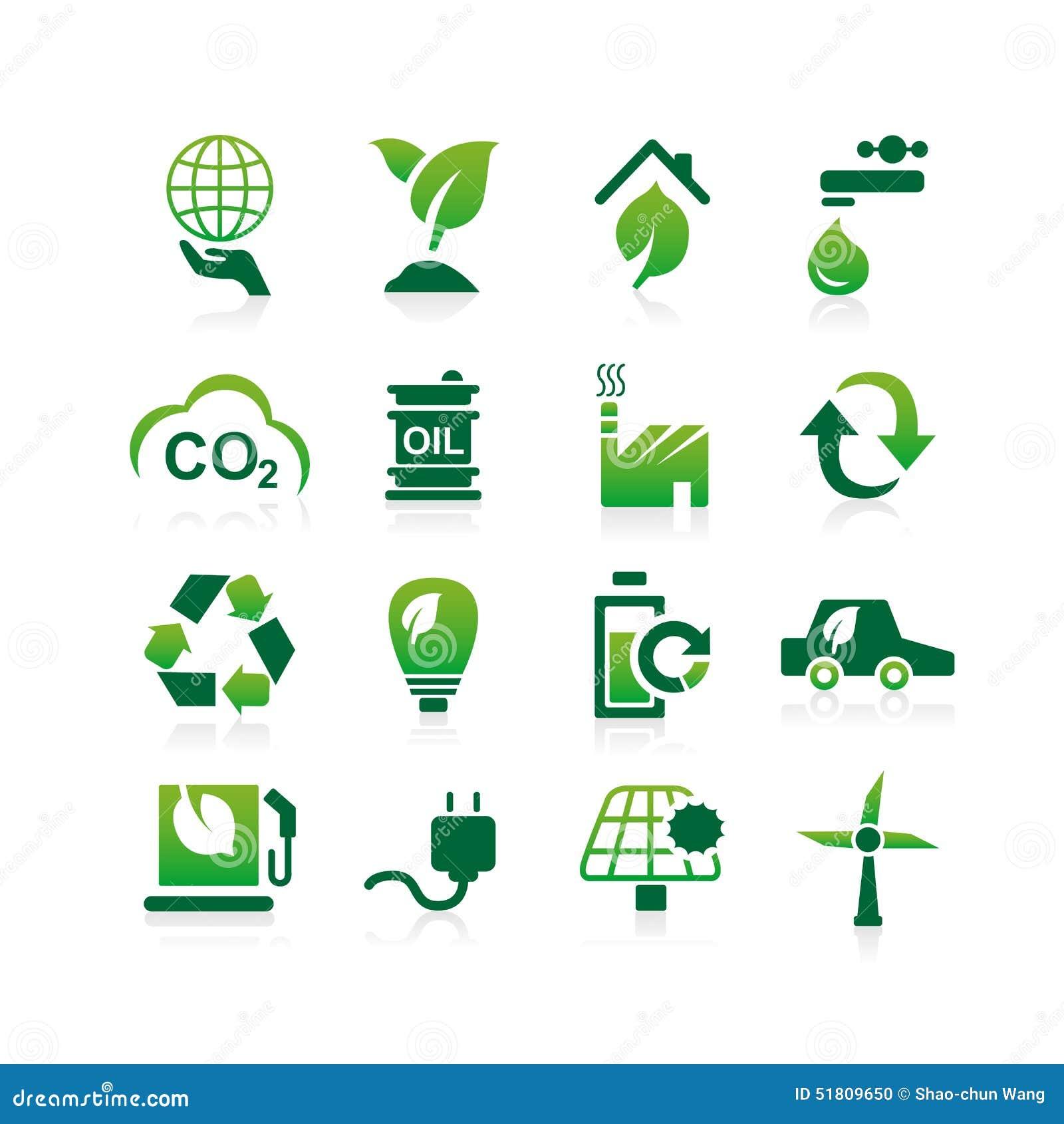 Icono verde del ambiente ECO