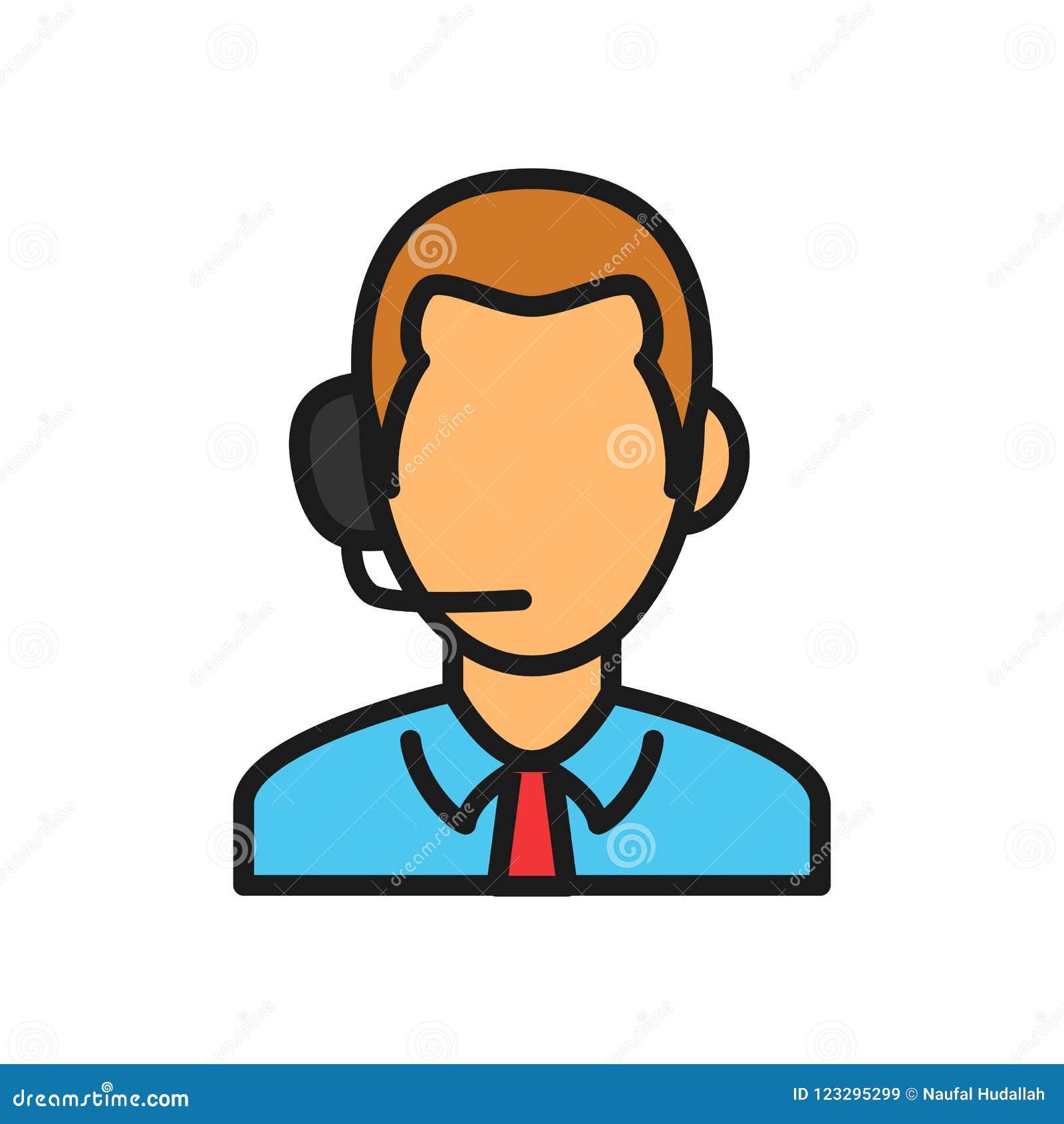 Icono vivo del comentarista del partido de deporte ejemplo del teléfono de la cabeza de la audiencia del hombre símbolo simple de