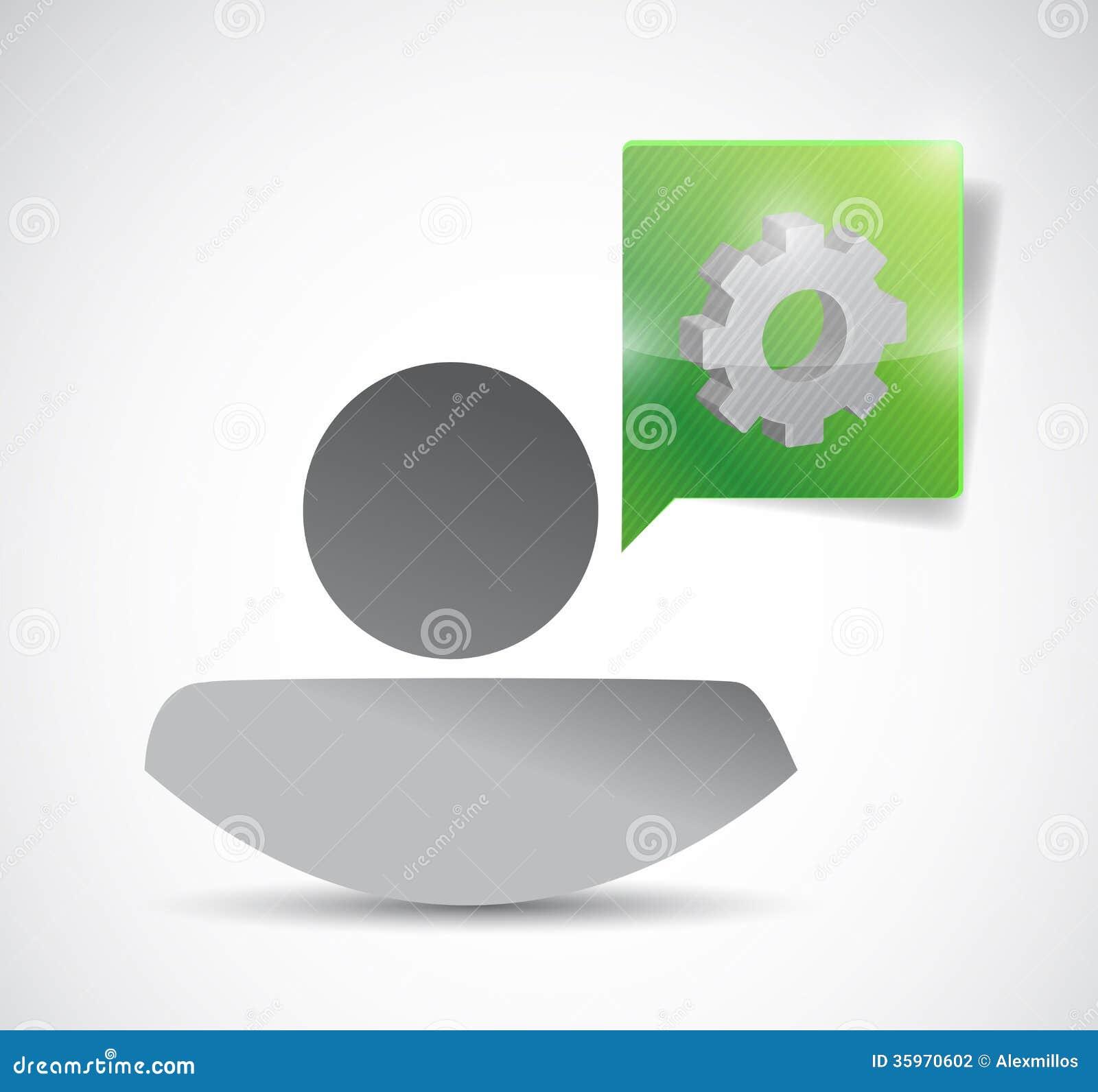 Icono y engranaje. diseño del ejemplo