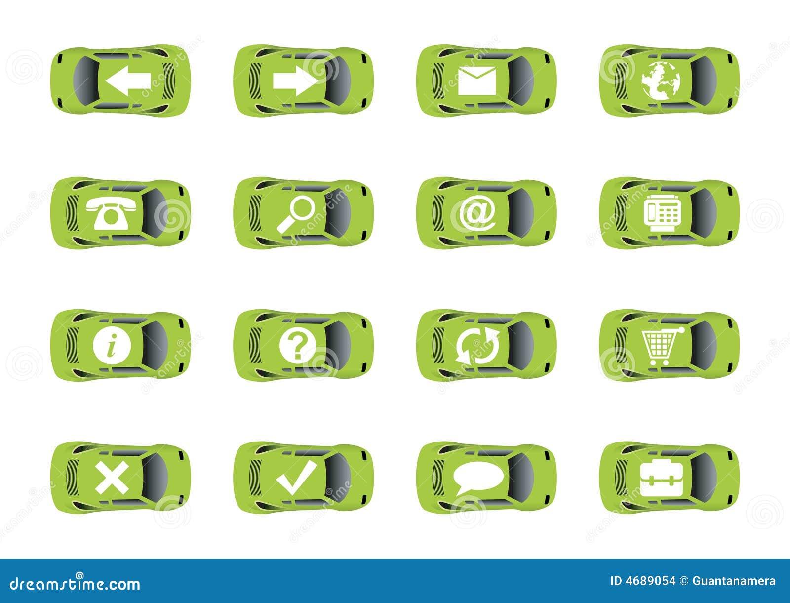 Iconos autos 1 del Web