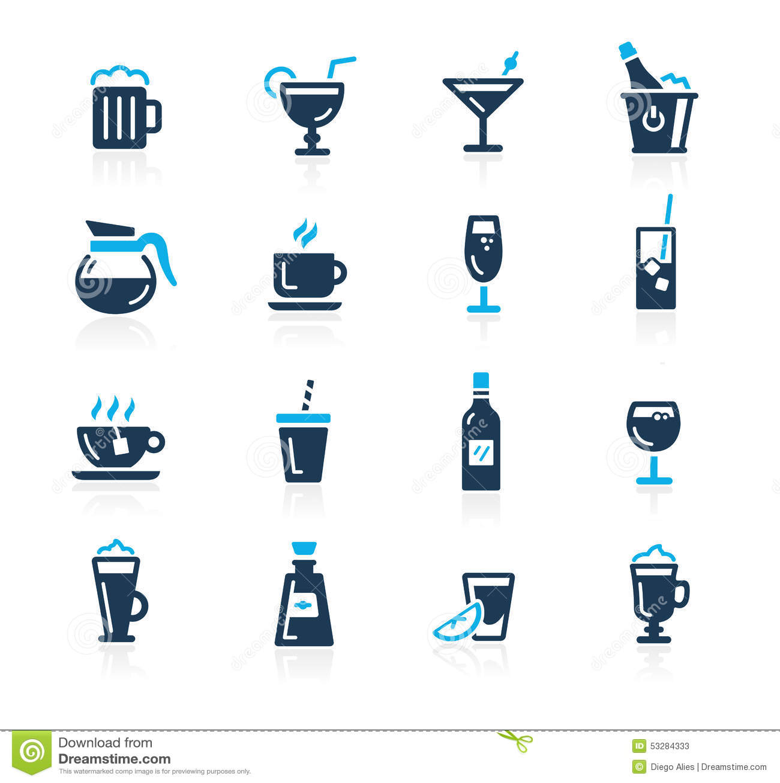Iconos //Azure Series de las bebidas