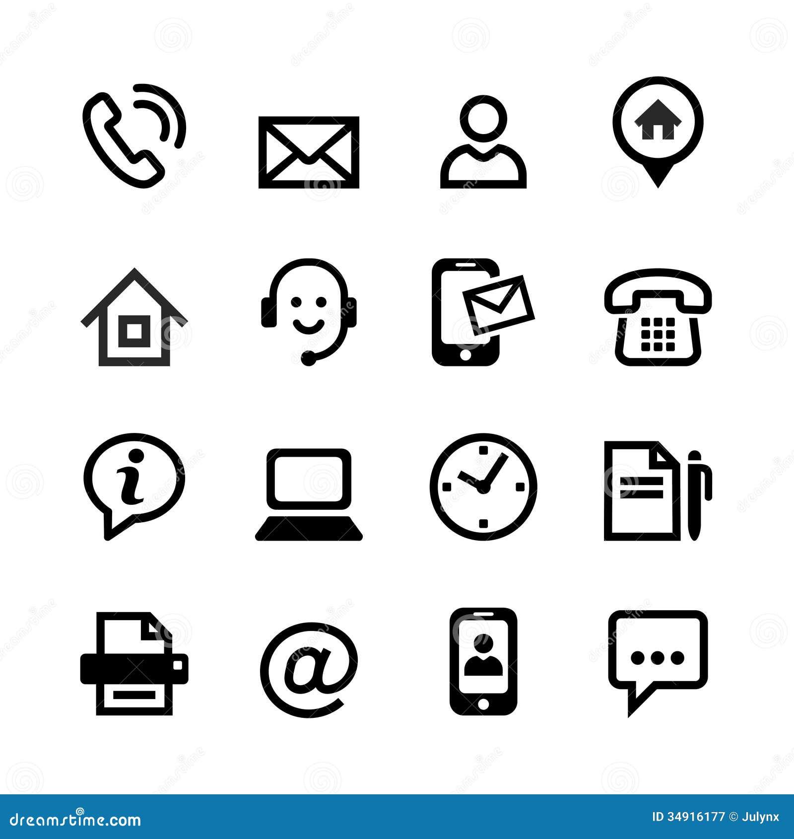16 iconos básicos - éntrenos en contacto con