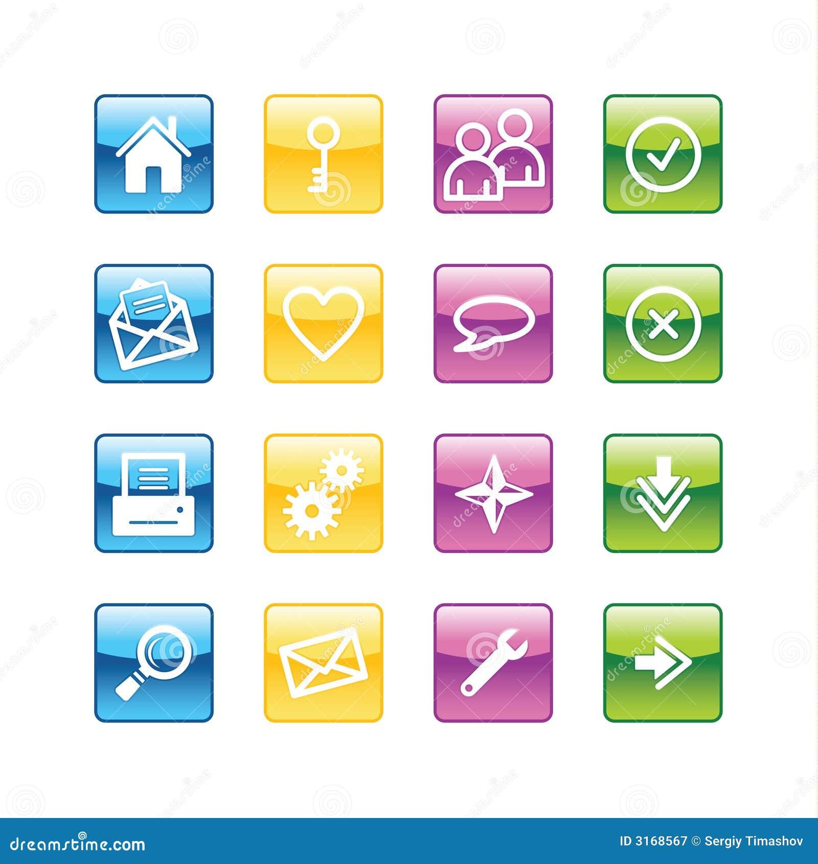 Iconos básicos del Web del Aqua