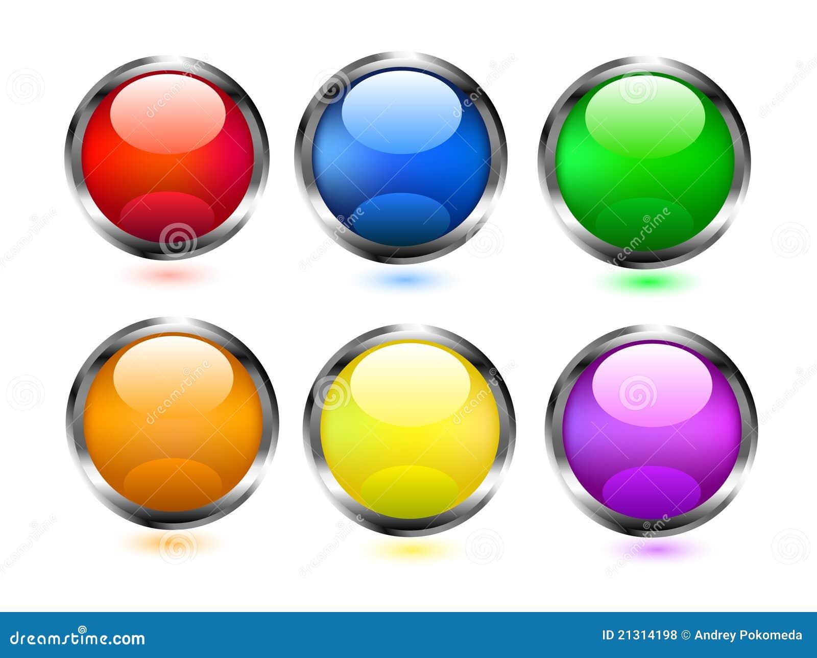 Iconos coloridos de los botones