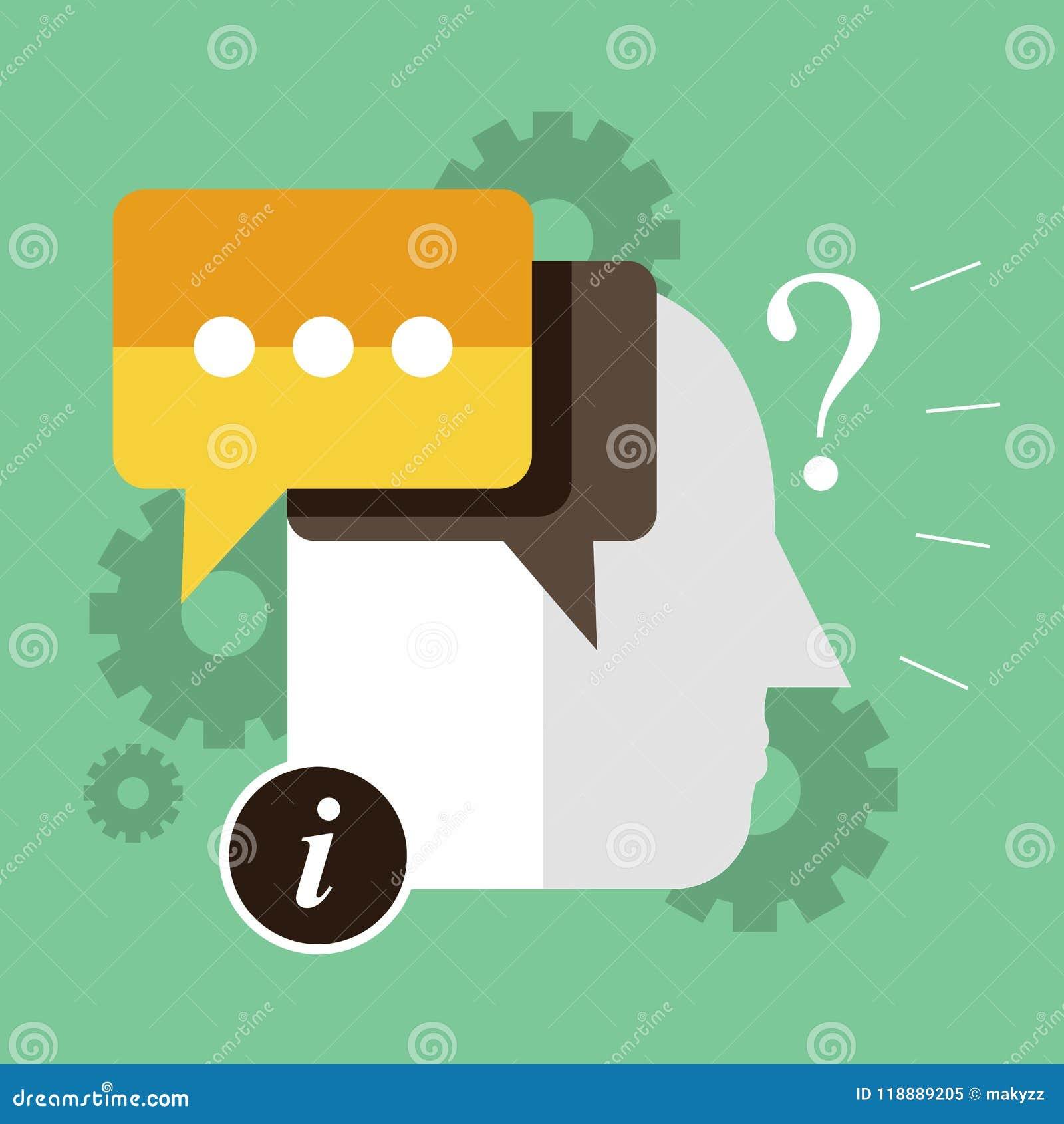Iconos con frecuencia pedidos de las preguntas Concepto para en la línea ayuda Ejemplo plano del vector Icono del vector del FAQ,