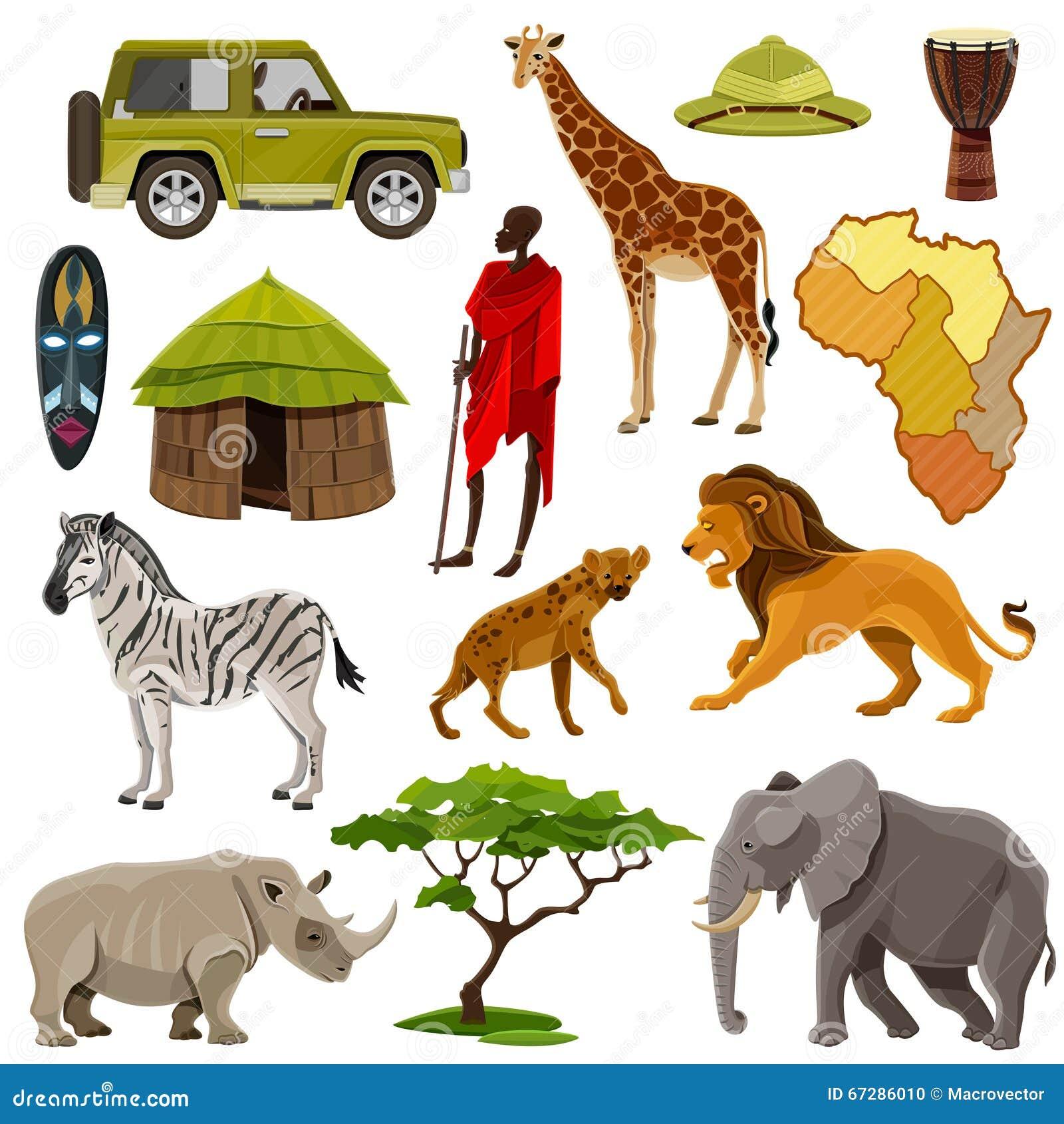 Iconos de África fijados