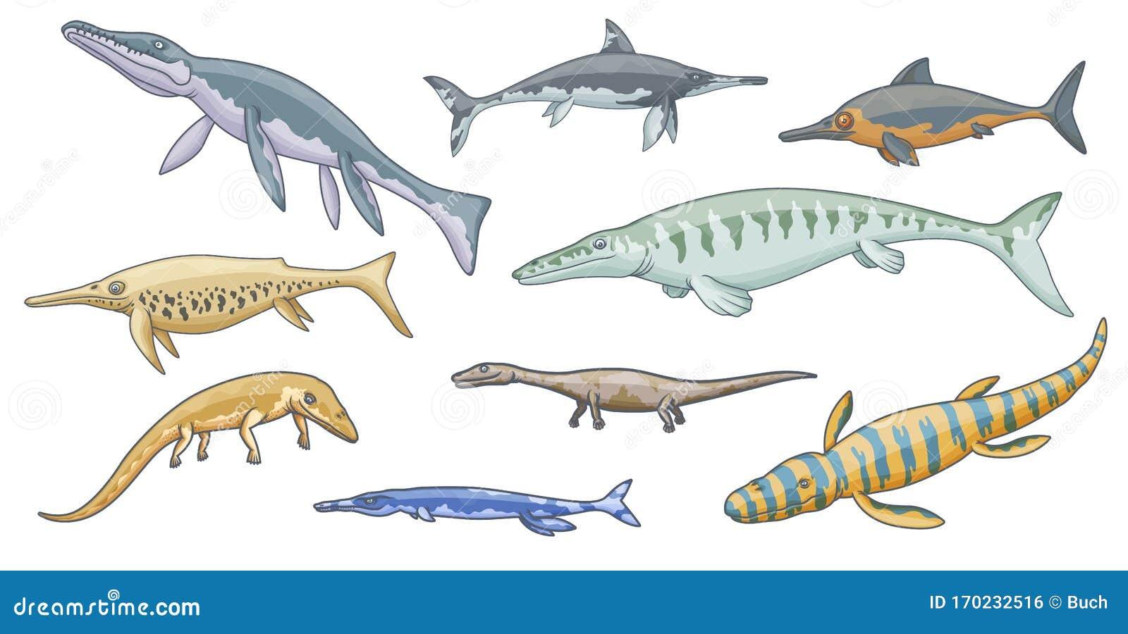 Iconos De Animales Marinos De Dinosaurios Reptiles Marinos Jurasicos Ilustracion Del Vector Ilustracion De Animales Iconos 170232516 Los tipos más fascinantes de dinosaurios acuáticos y marinos. iconos de animales marinos de