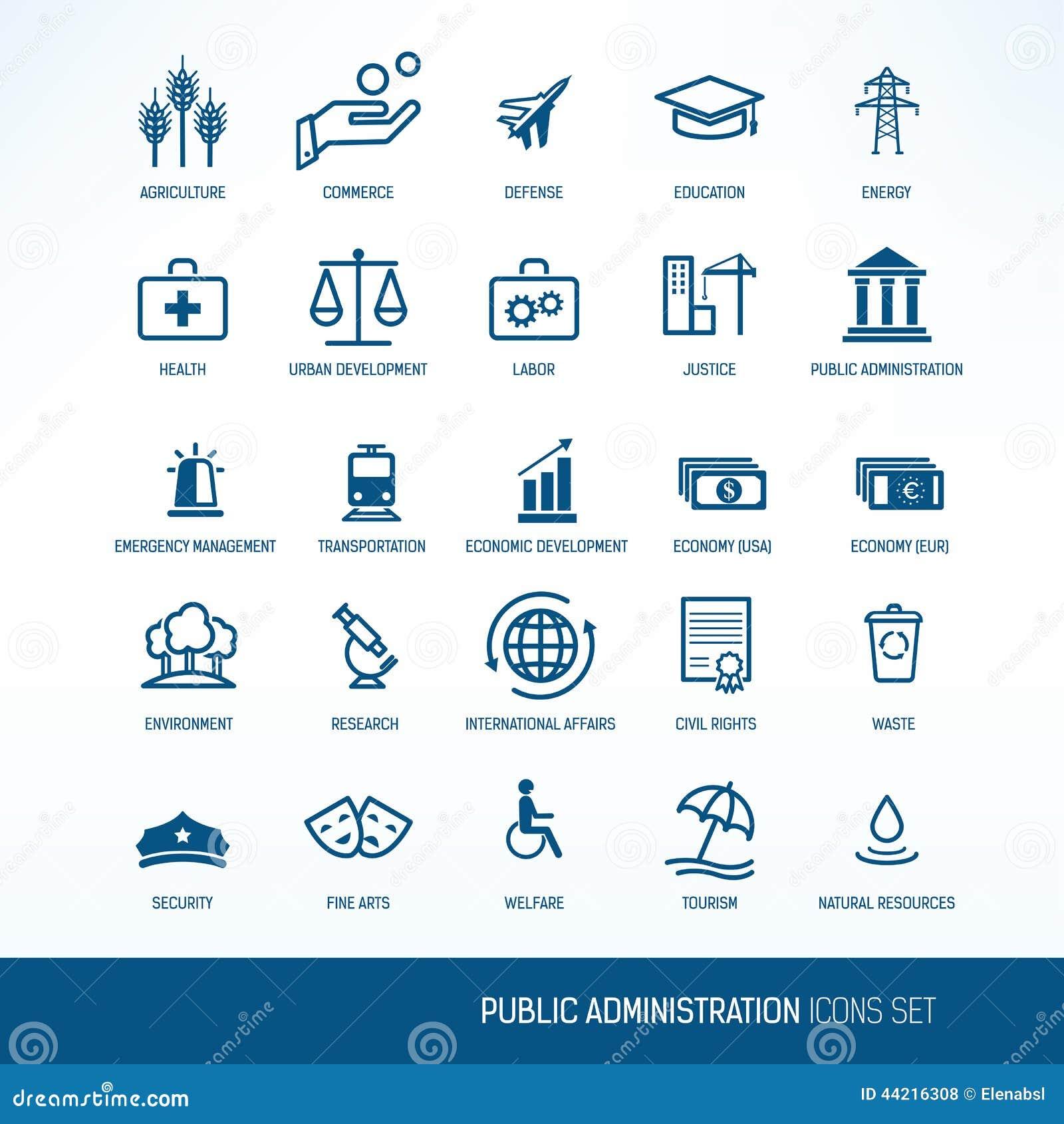 Iconos de la administración pública