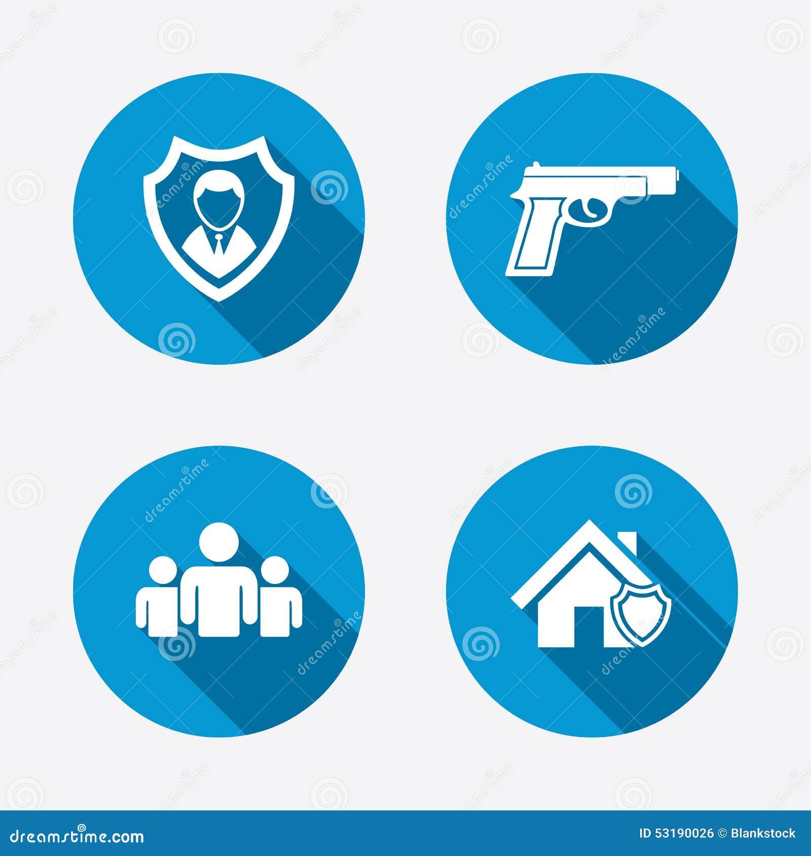 42311664 Iconos De La Agencia De Seguridad Protección Casera Del Escudo ...