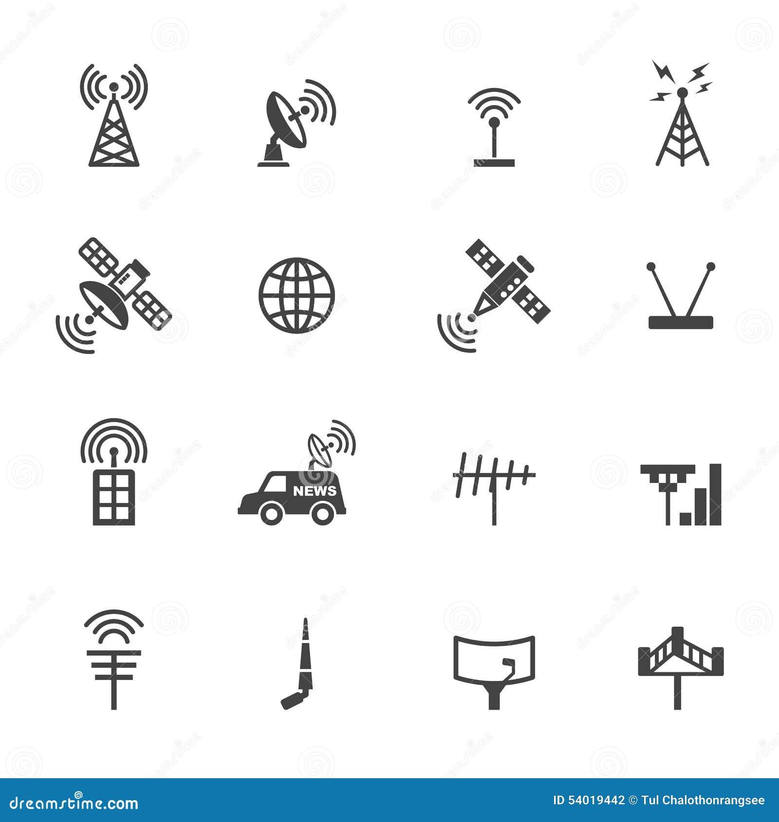 Iconos de la antena y del satélite