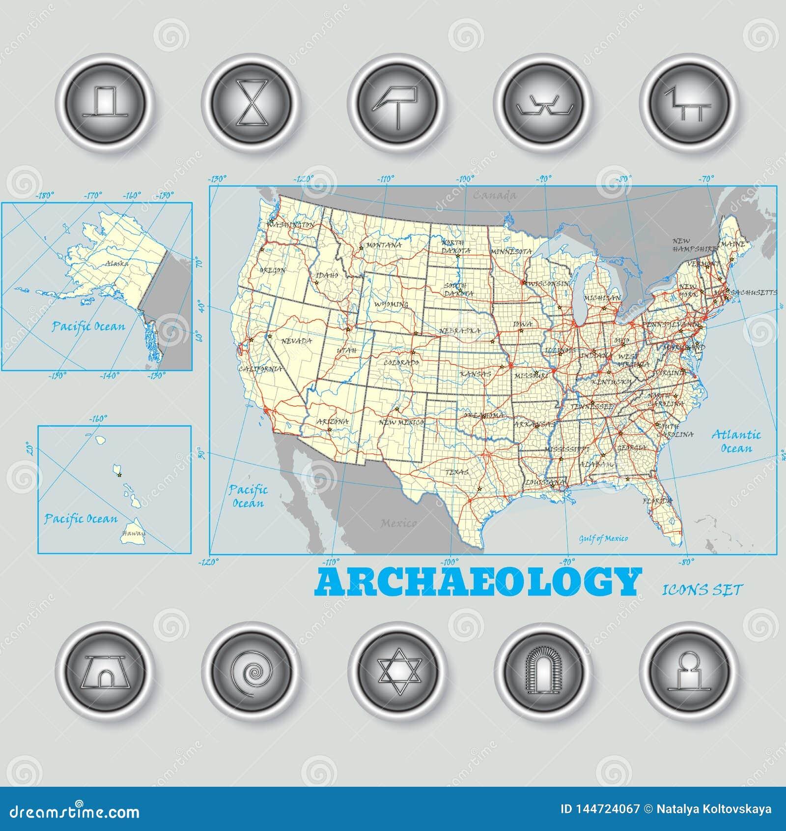 Iconos de la arqueología fijados en la notación científica