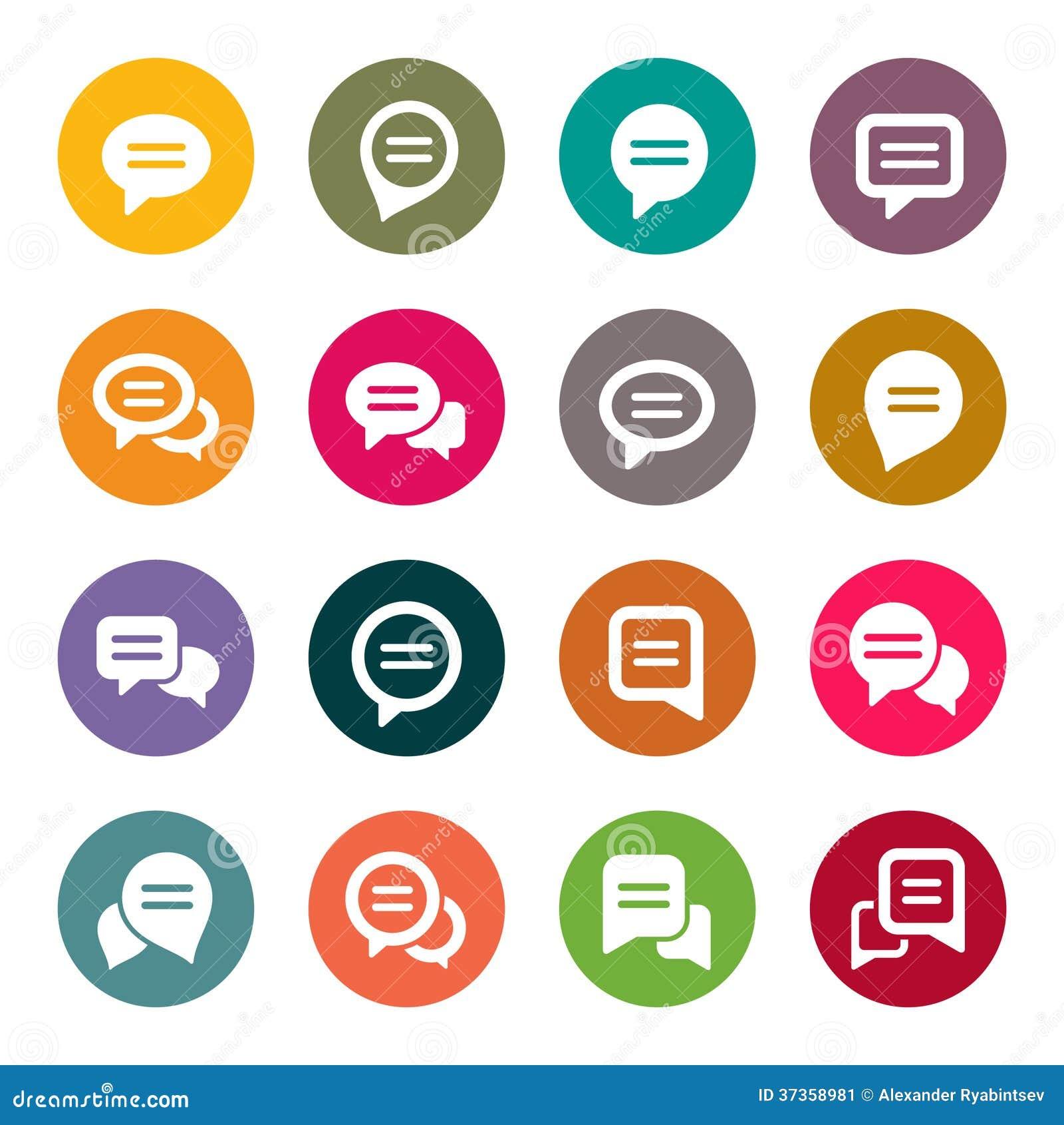 Iconos de la burbuja del discurso