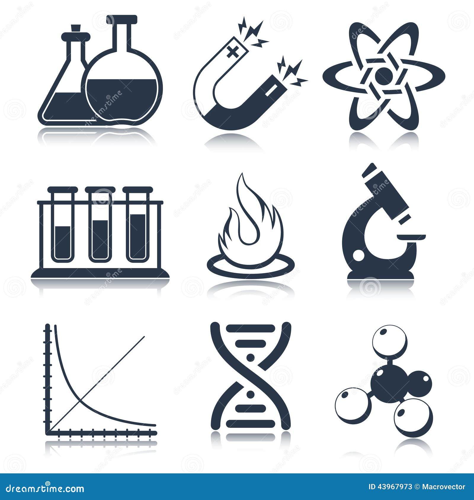 Iconos De La Ciencia De La F 237 Sica Ilustraci 243 N Del Vector