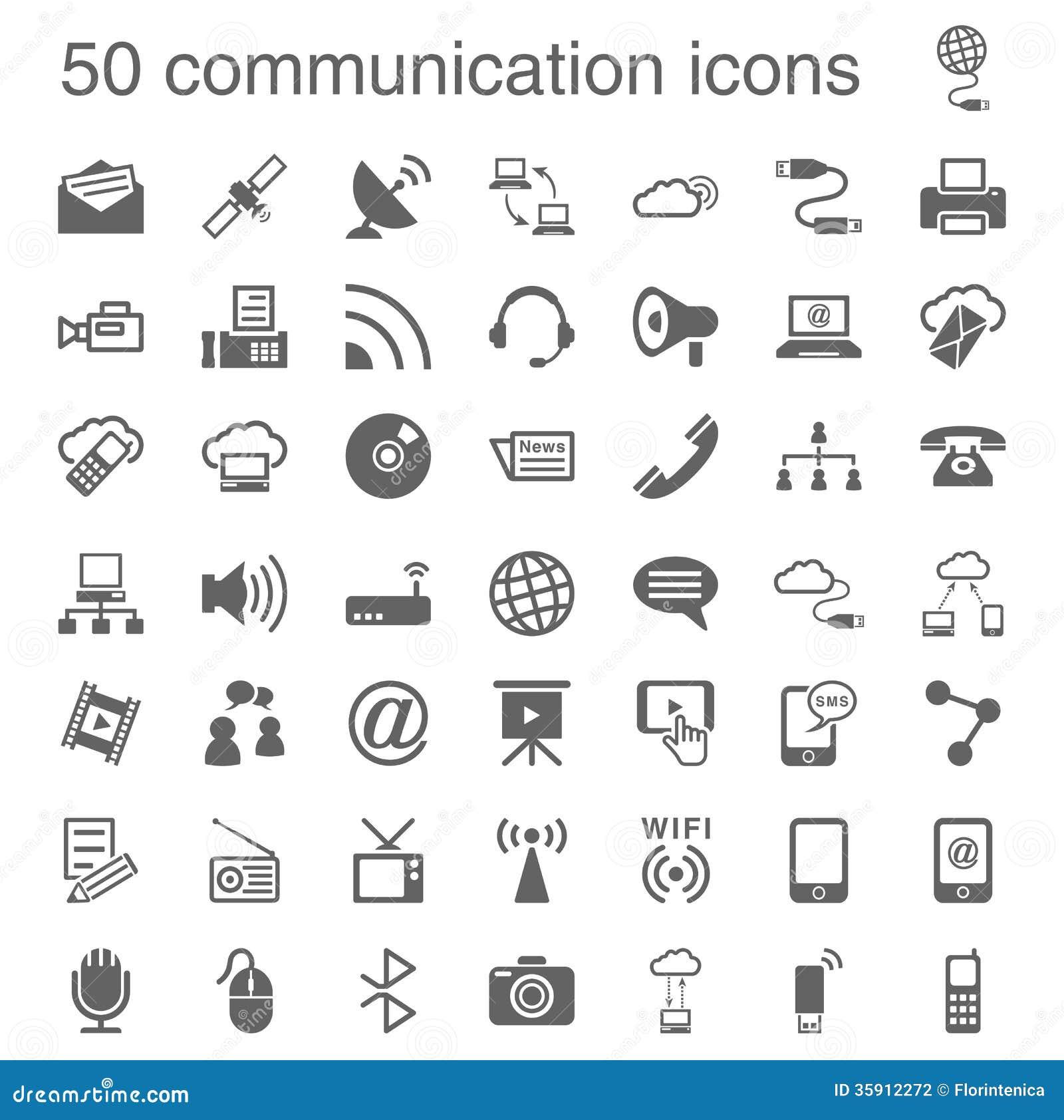 50 iconos de la comunicación