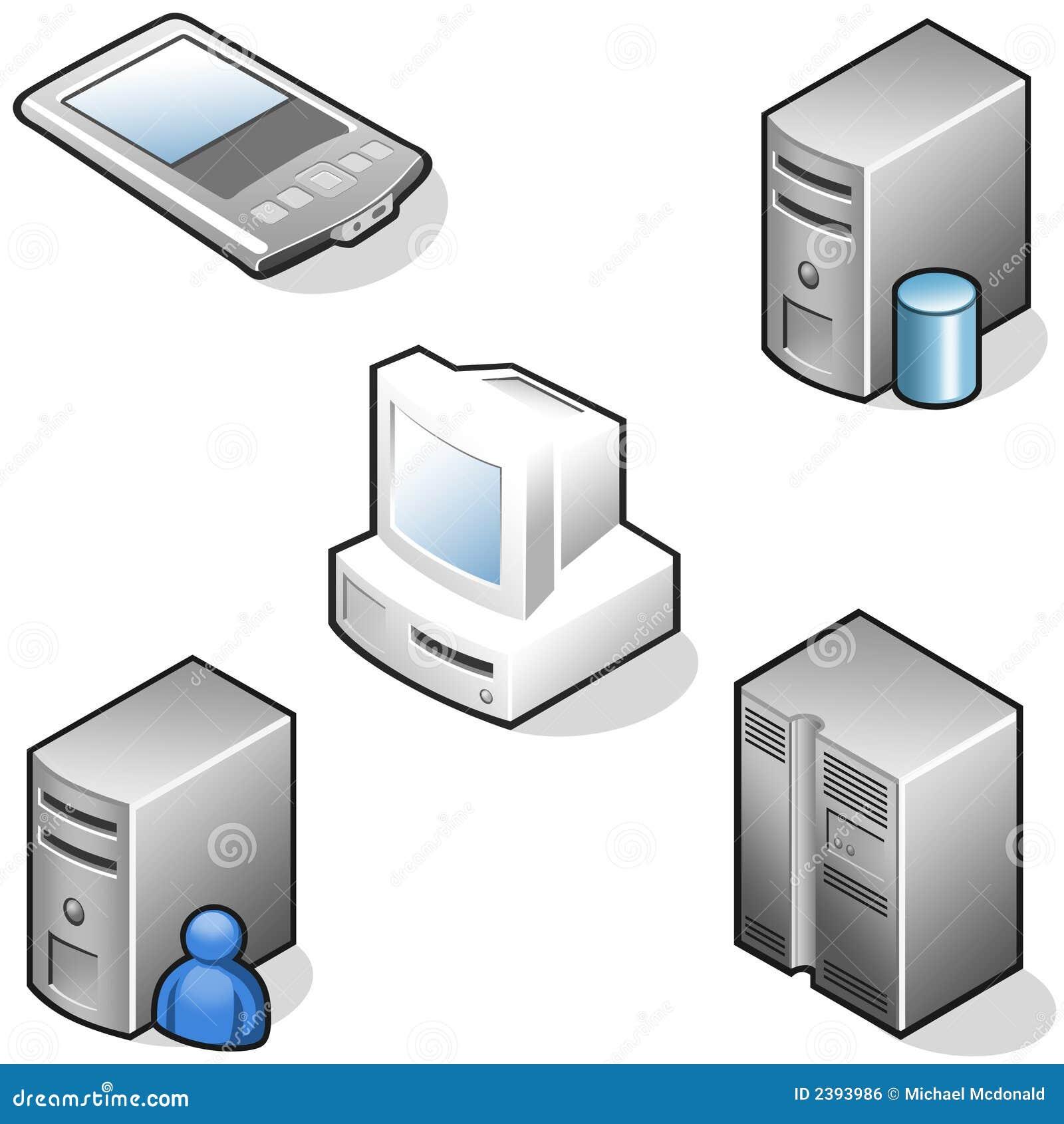 Iconos de la dotación física de los datos