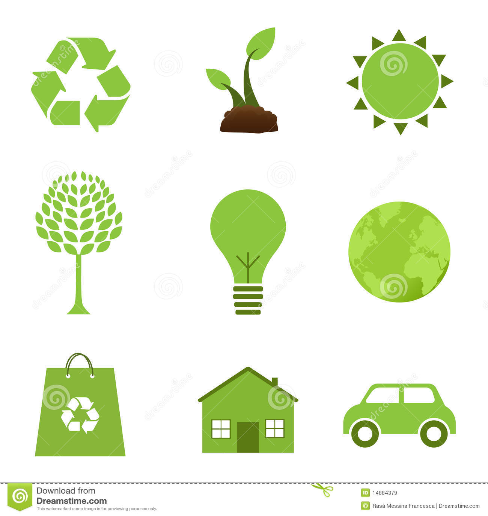 Iconos de la ecología
