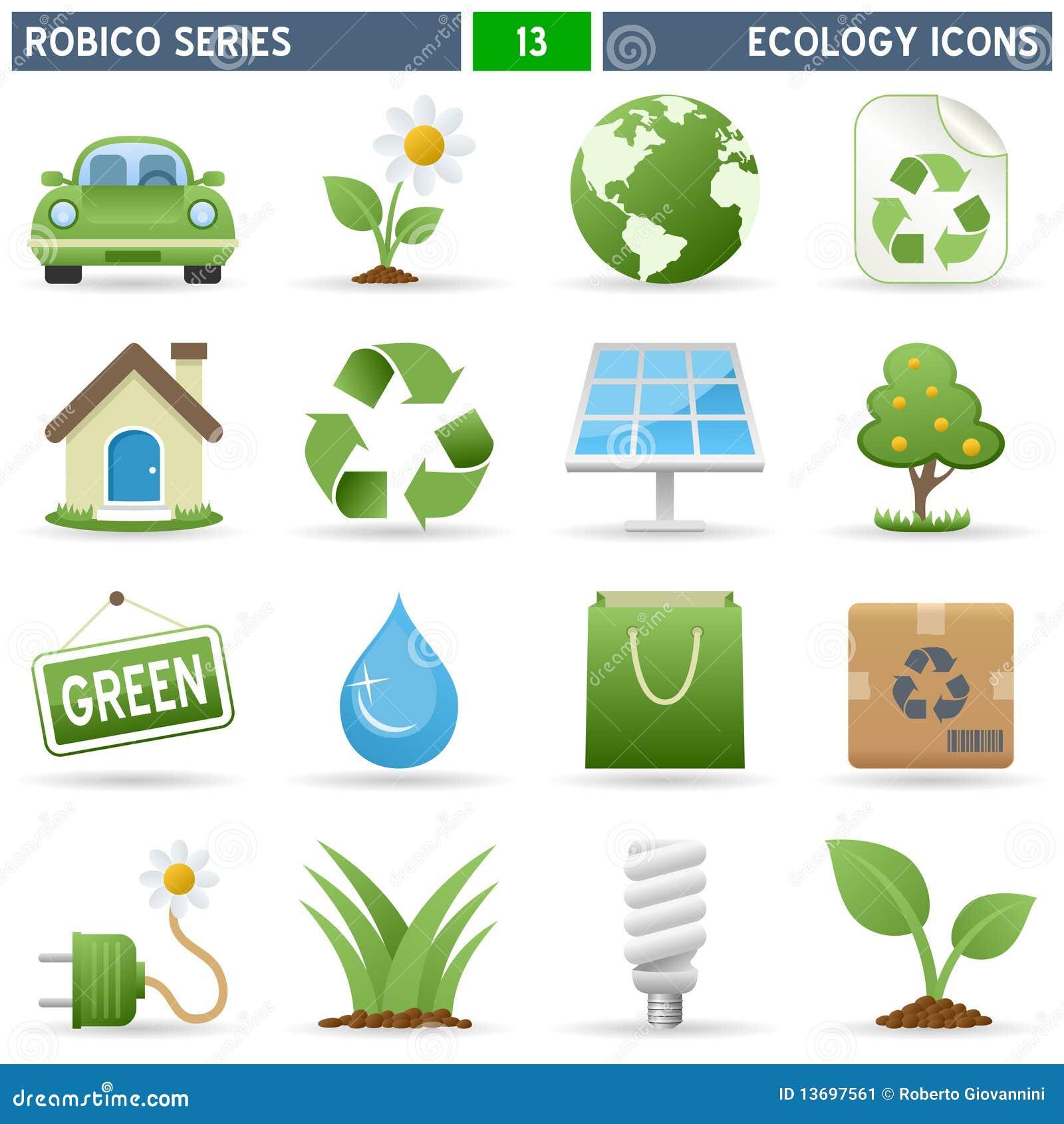 Iconos de la ecología - serie de Robico