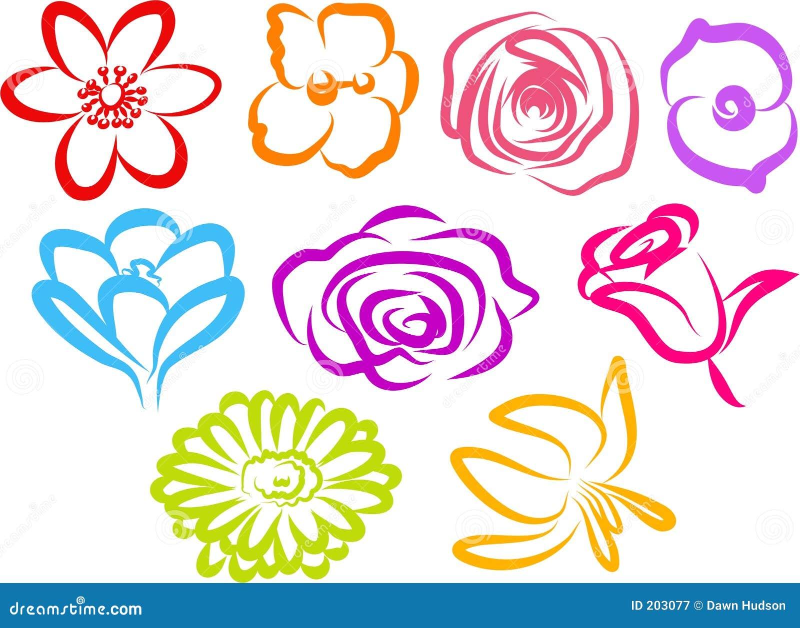 Iconos de la flor