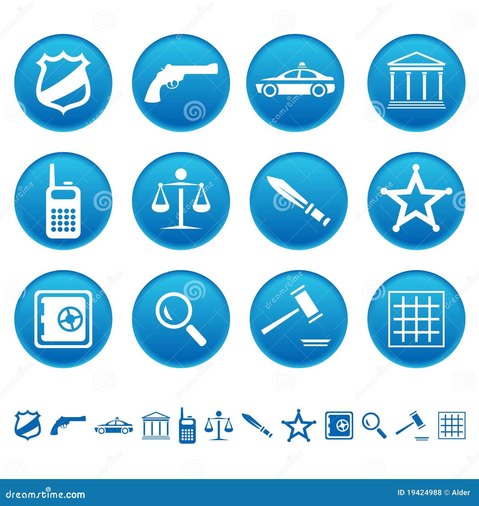 Iconos de la ley y de la orden