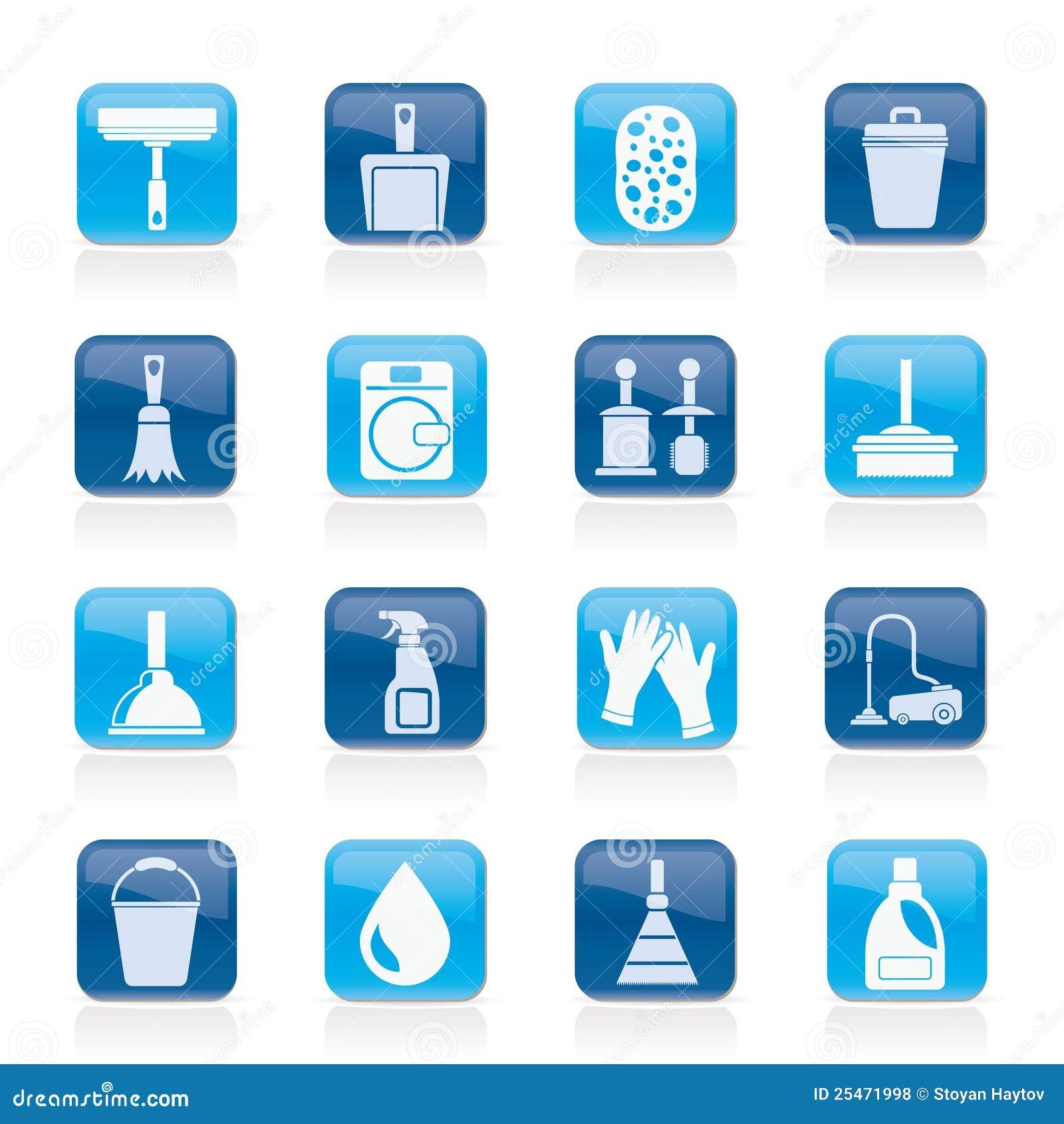 Iconos de la limpieza y de la higiene