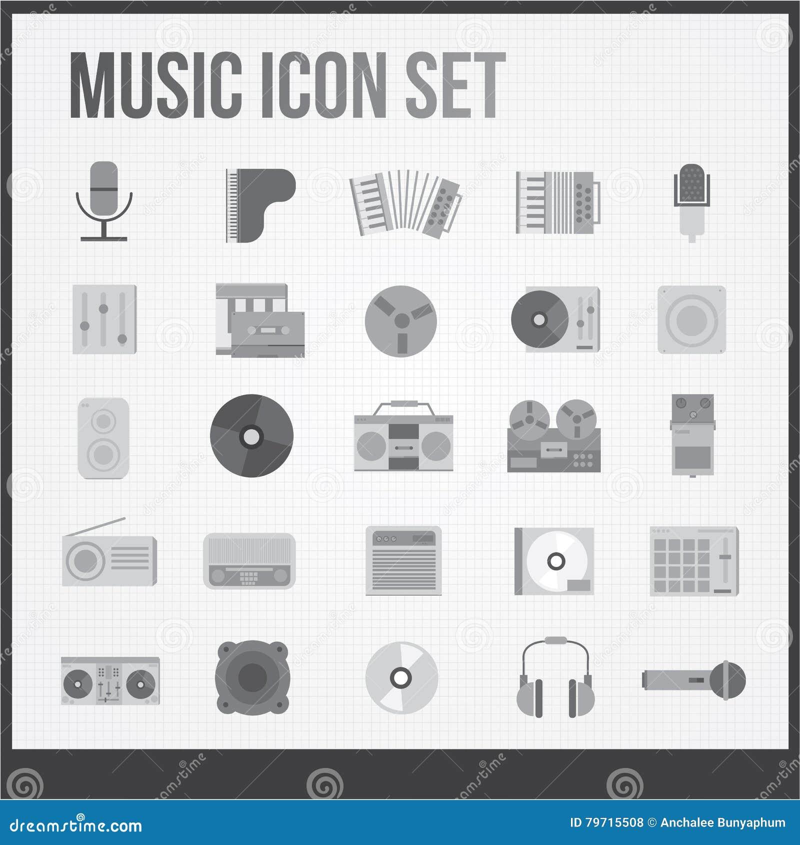 Iconos de la música fijados
