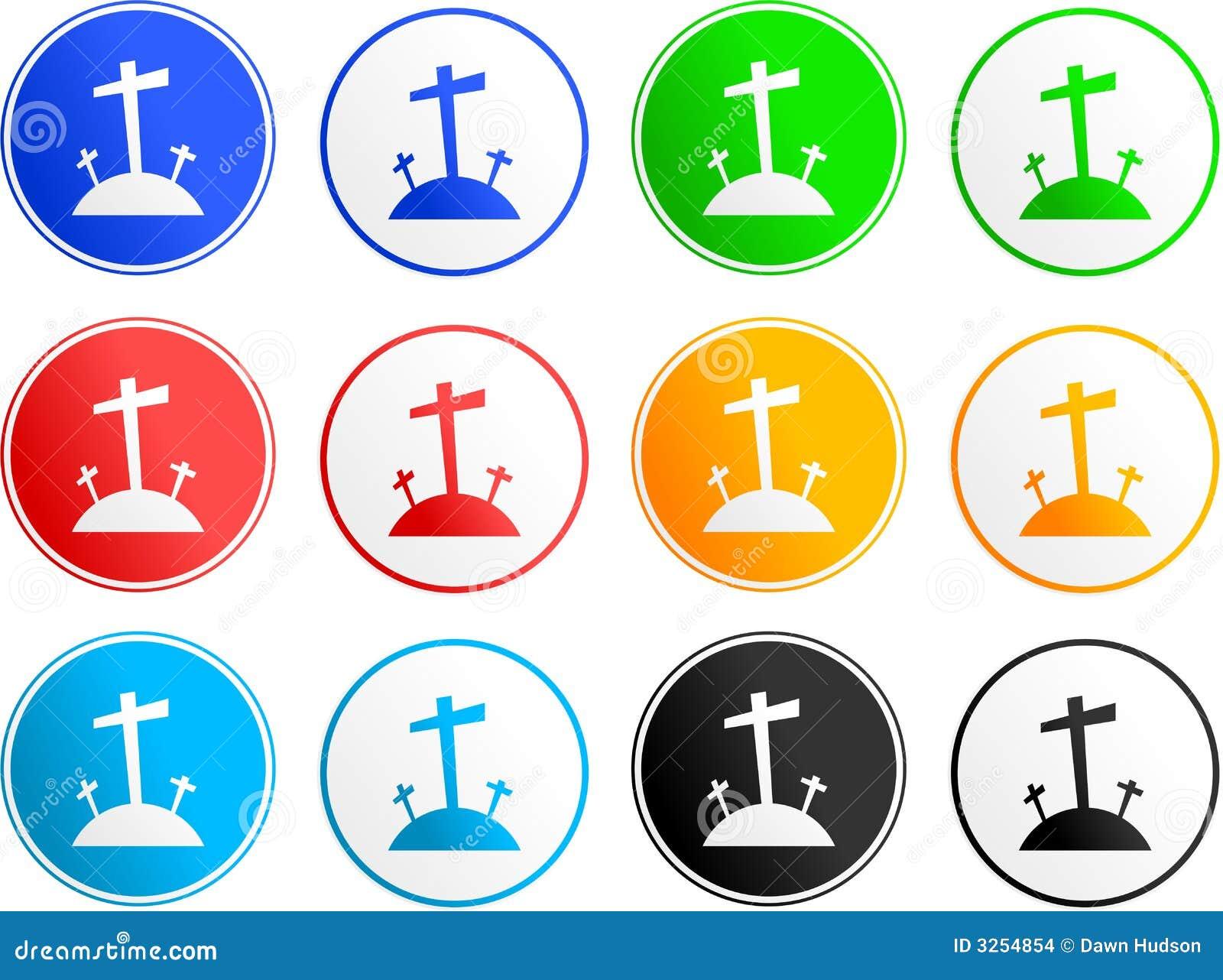 Iconos de la muestra del Calvary