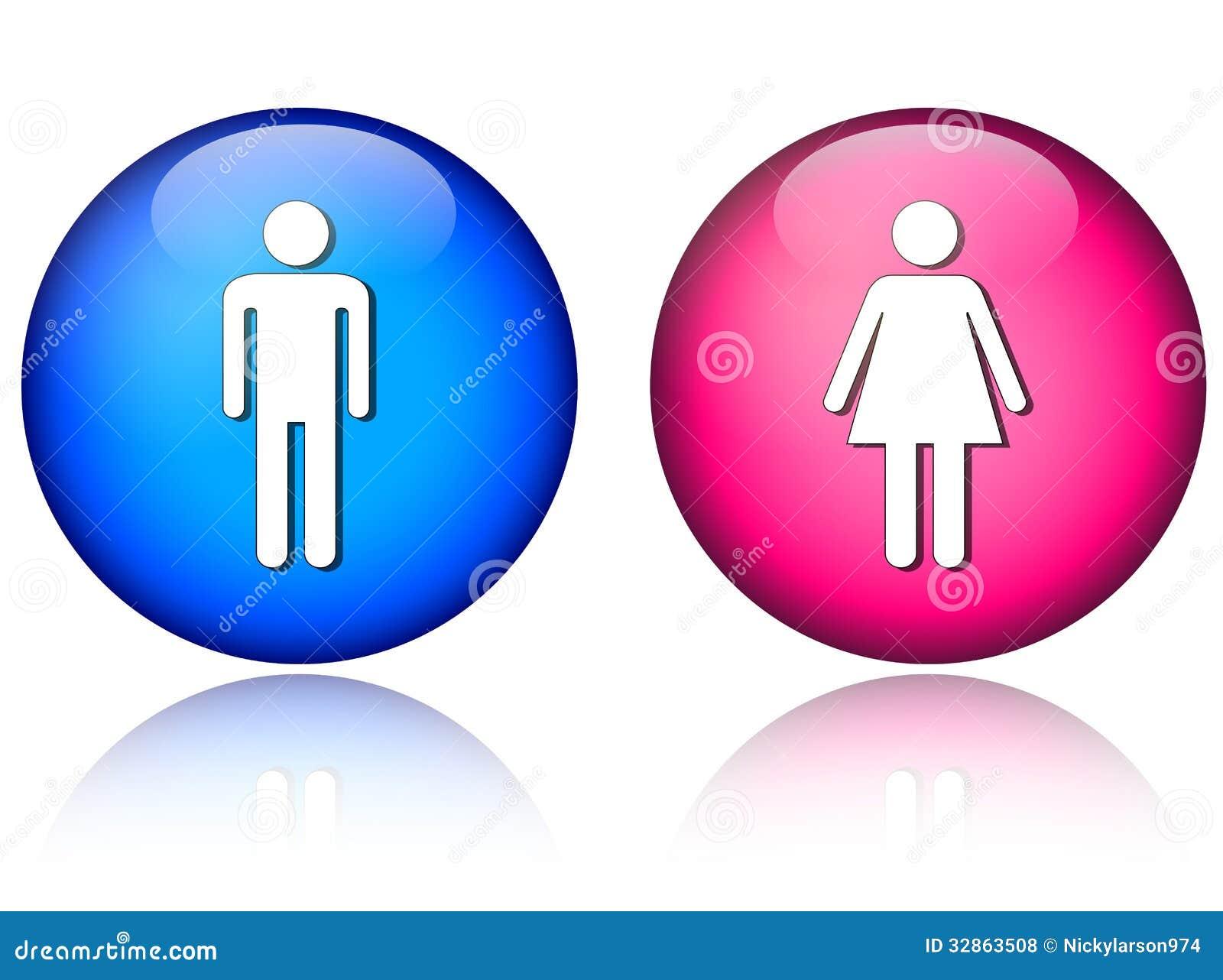 Iconos De La Mujer Del Hombre Ilustración Del Vector Ilustración